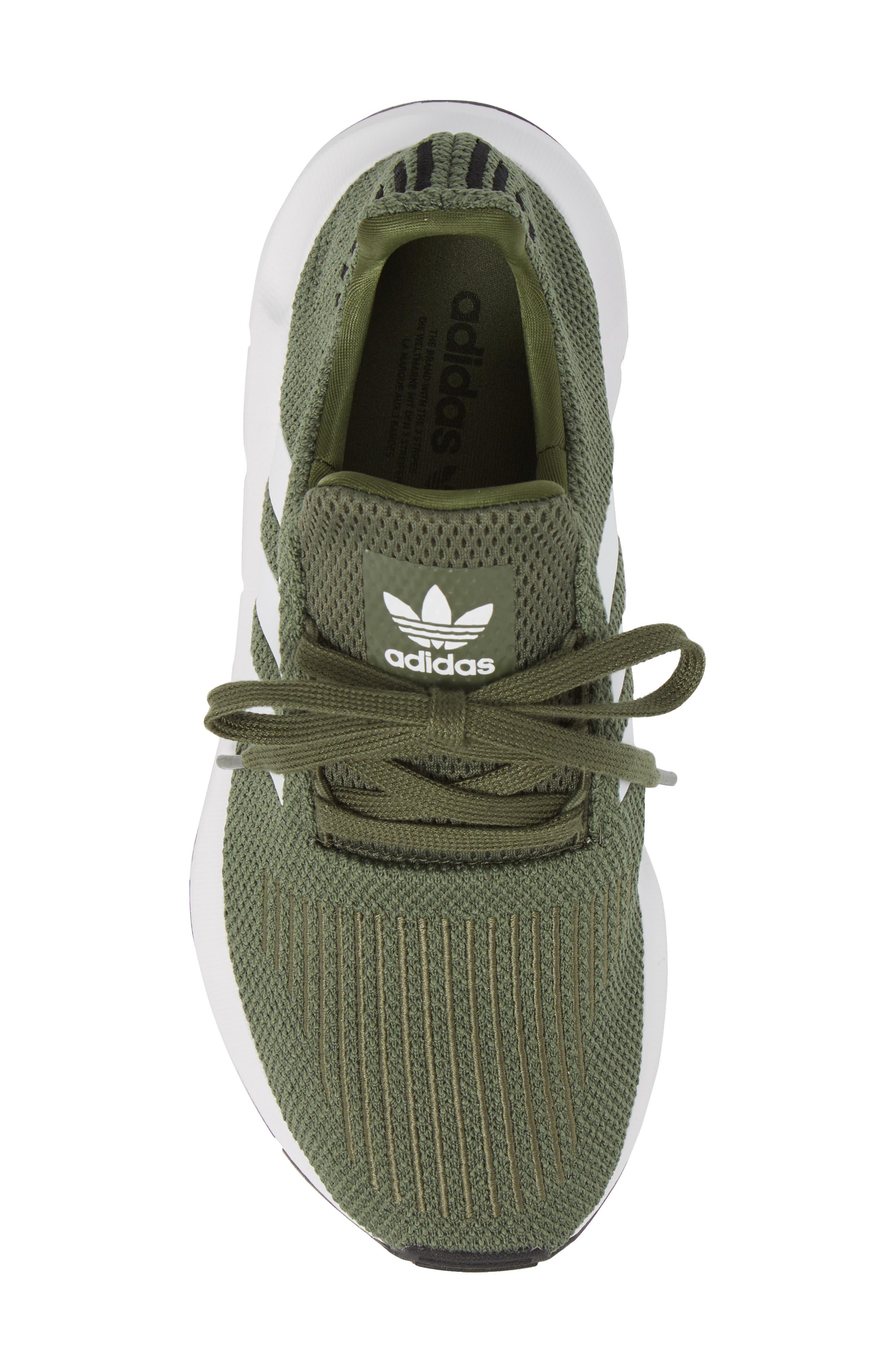 Swift Run Sneaker,                             Alternate thumbnail 5, color,                             Base Green/ White/ Black