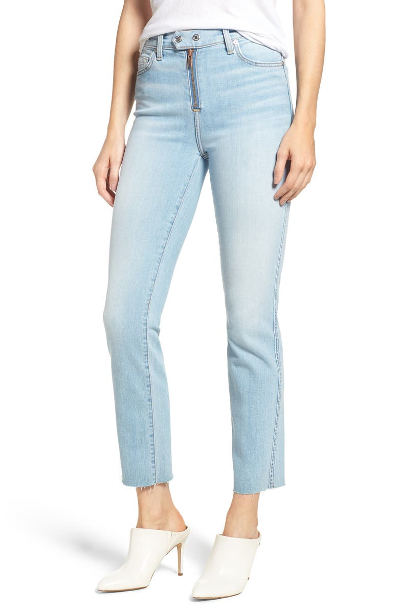 Edie Exposed Zip Ankle Jeans