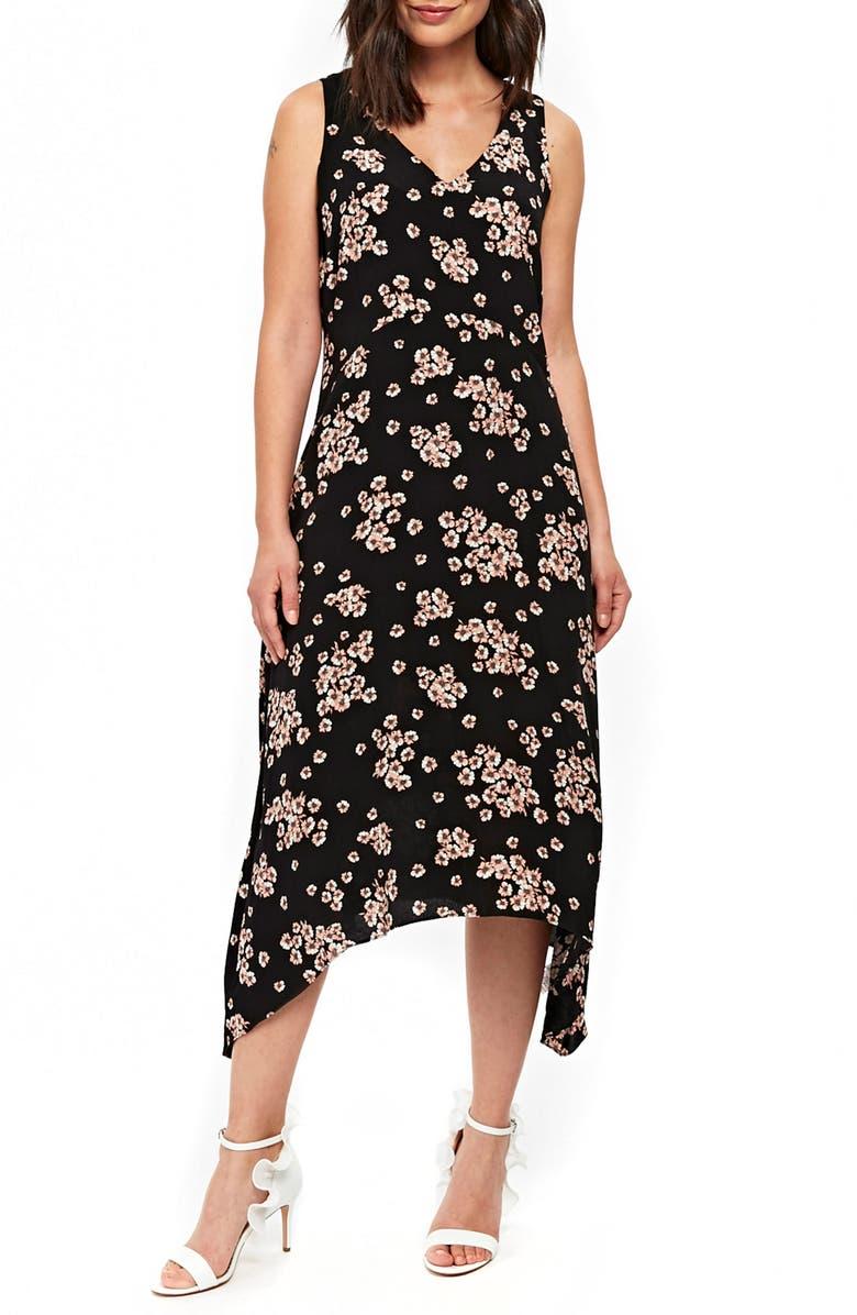 Daisy Hanky Hem Midi Dress