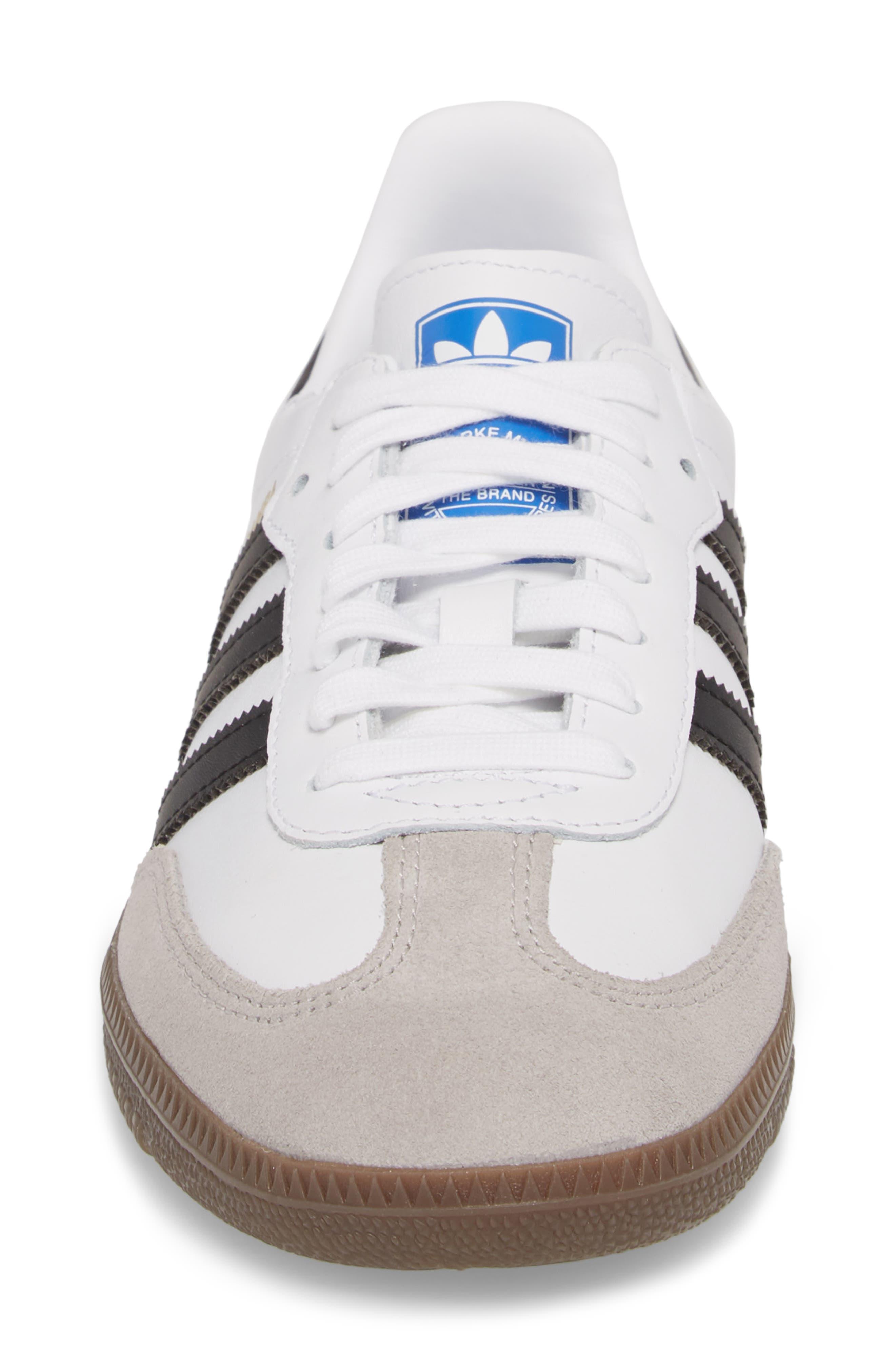 'Samba' Sneaker,                             Alternate thumbnail 6, color,                             White/ Black/ Clear Granite