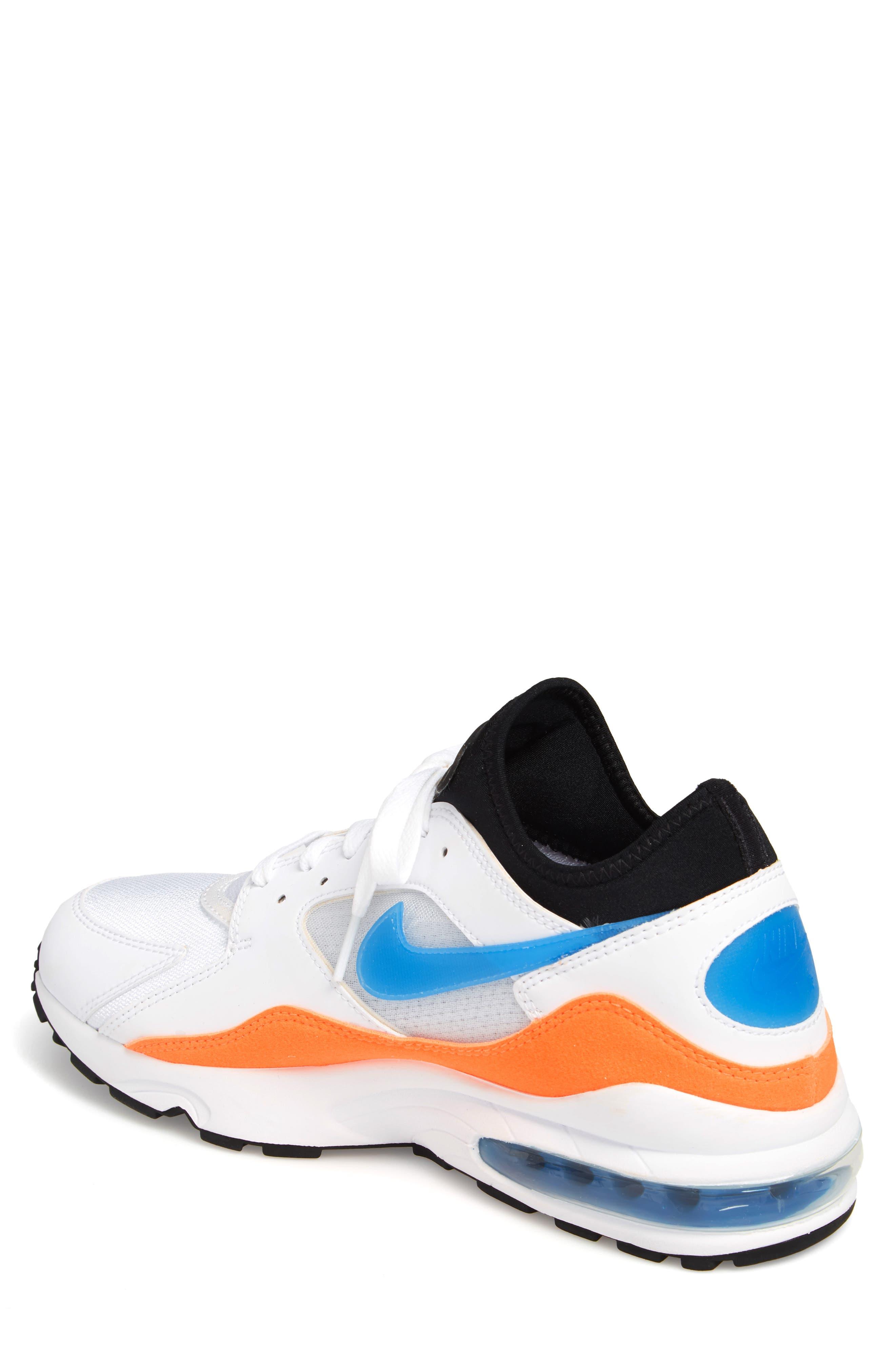Air Max 93 Sneaker,                             Alternate thumbnail 2, color,                             White/ Blue Nebula/ Orange