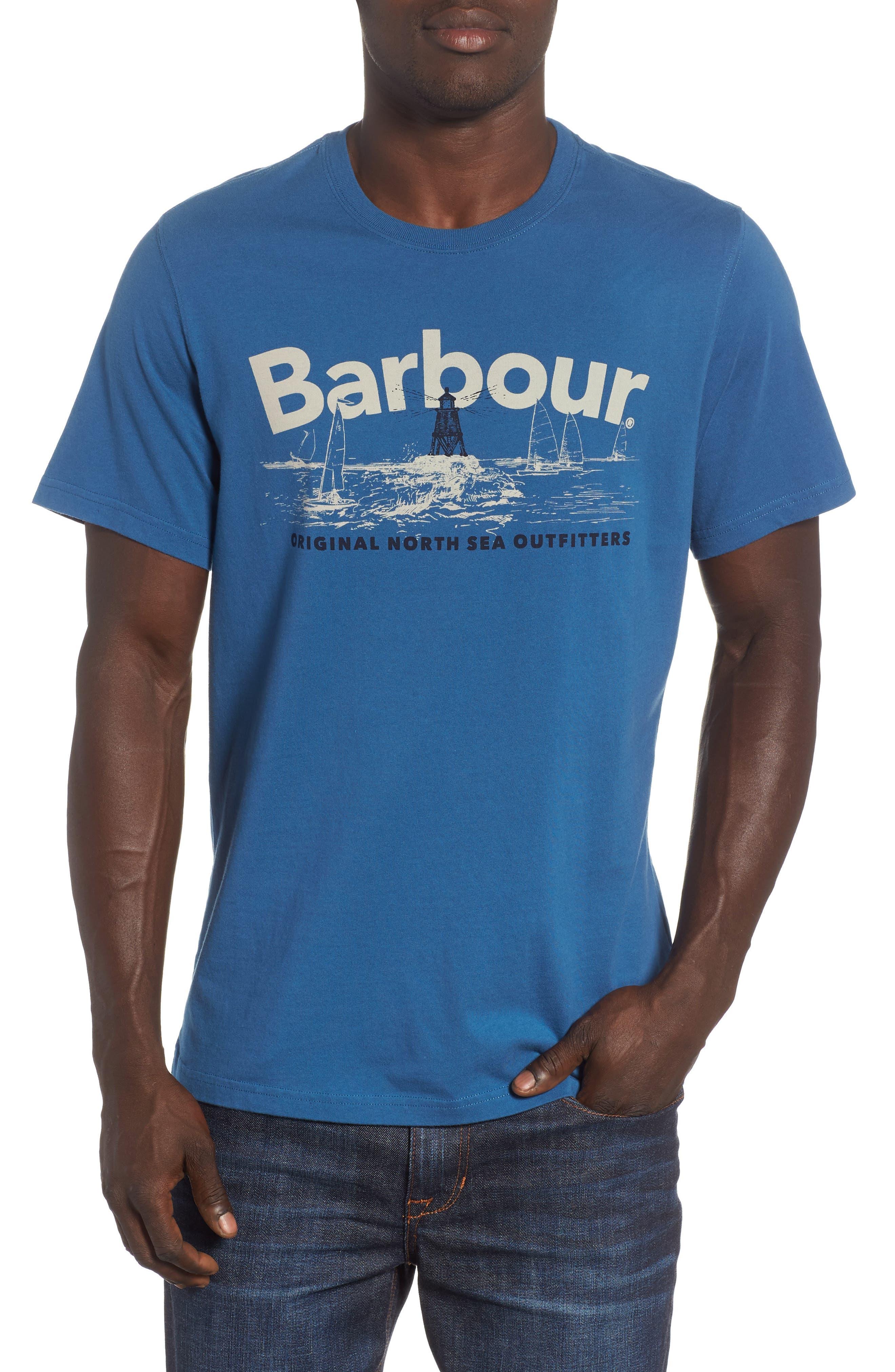 Waterline Graphic T-Shirt,                         Main,                         color, Sea Blue