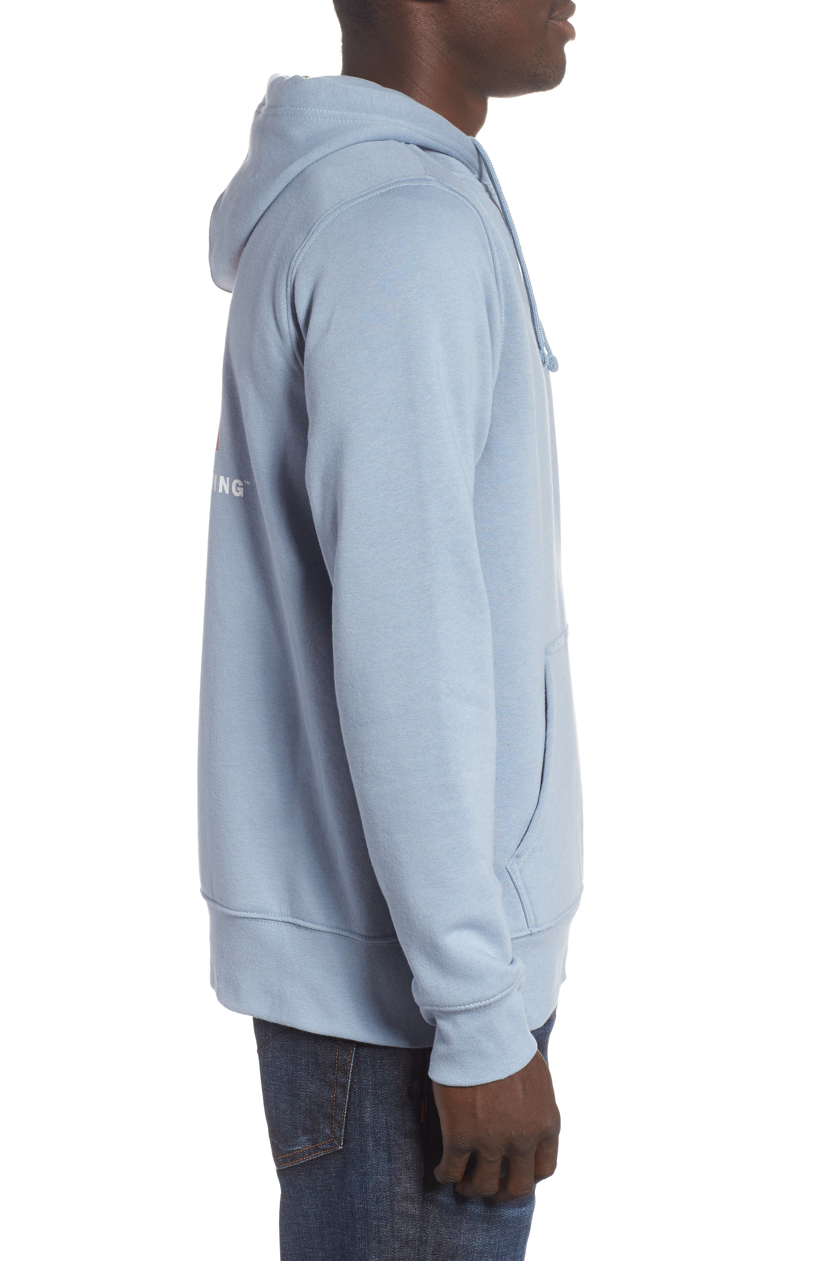 Red Box Hoodie,                             Alternate thumbnail 3, color,                             Gull Blue