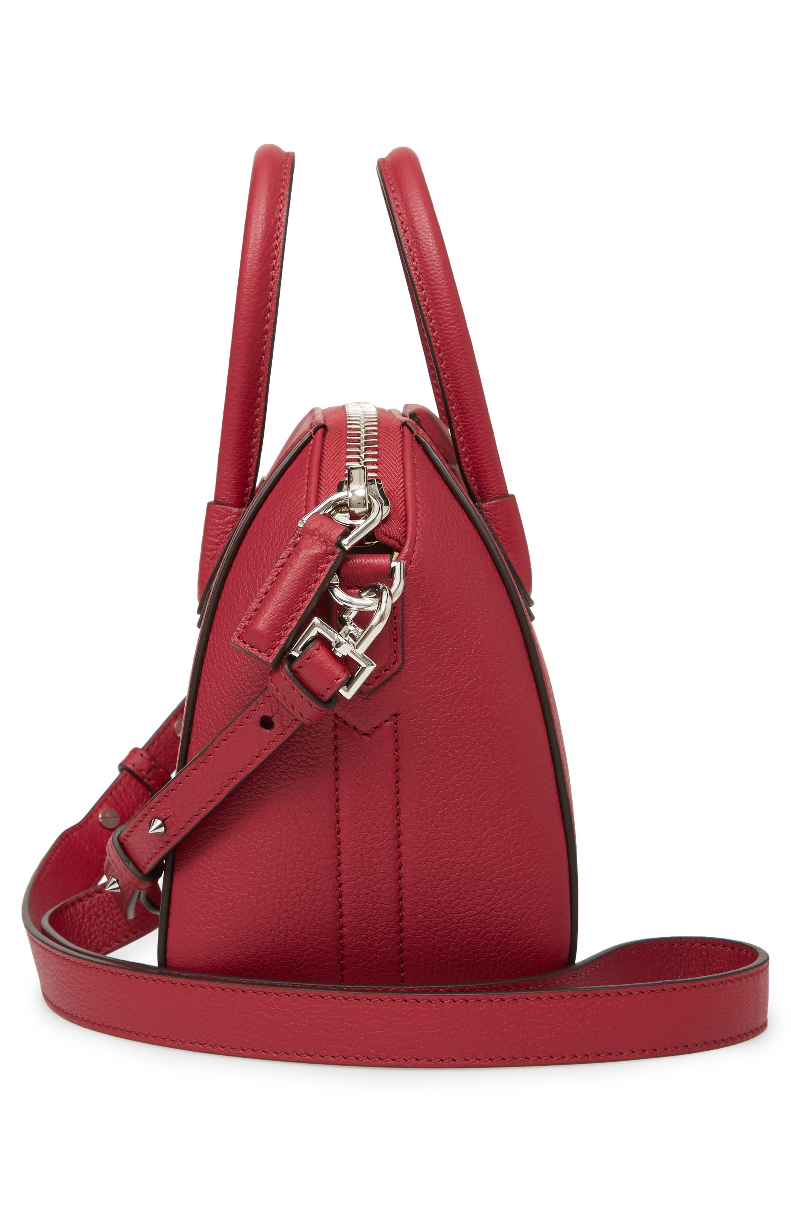 'Mini Antigona' Sugar Leather Satchel,                             Alternate thumbnail 5, color,                             Fig Pink