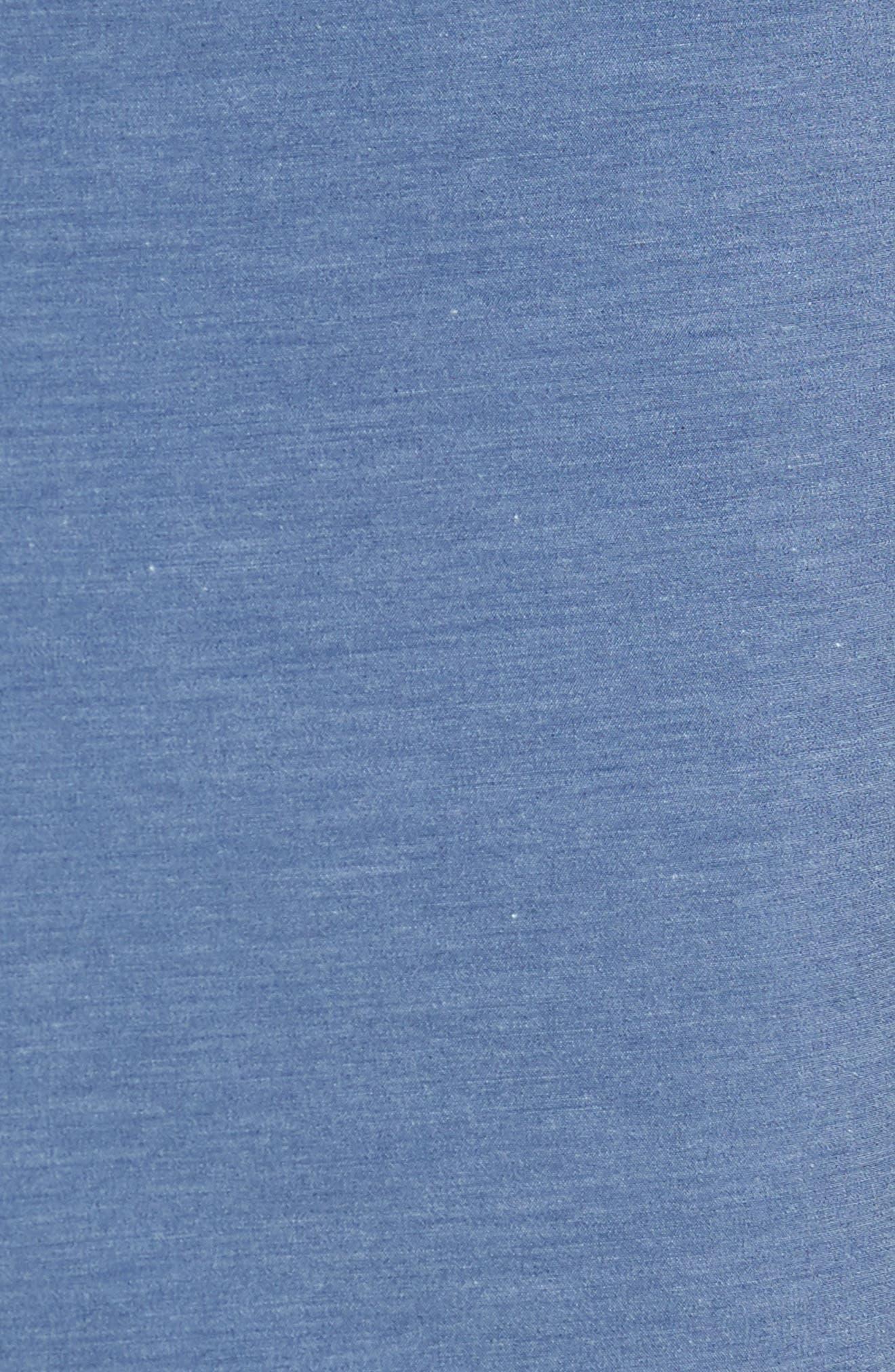 Retro Surf Stripe Board Shorts,                             Alternate thumbnail 4, color,                             Blue Red White