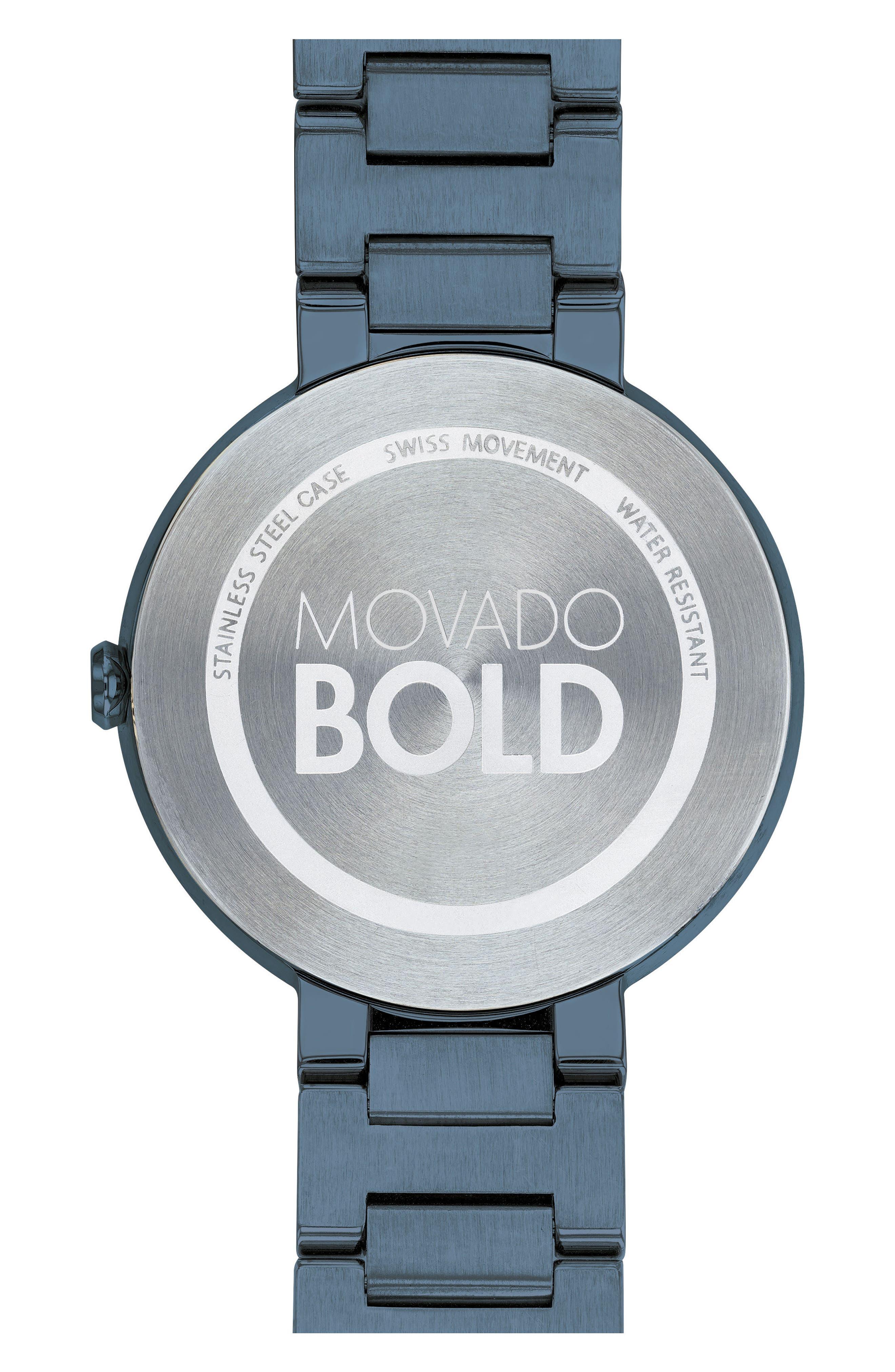 Bold Bracelet Watch, 34mm,                             Alternate thumbnail 2, color,                             Blue