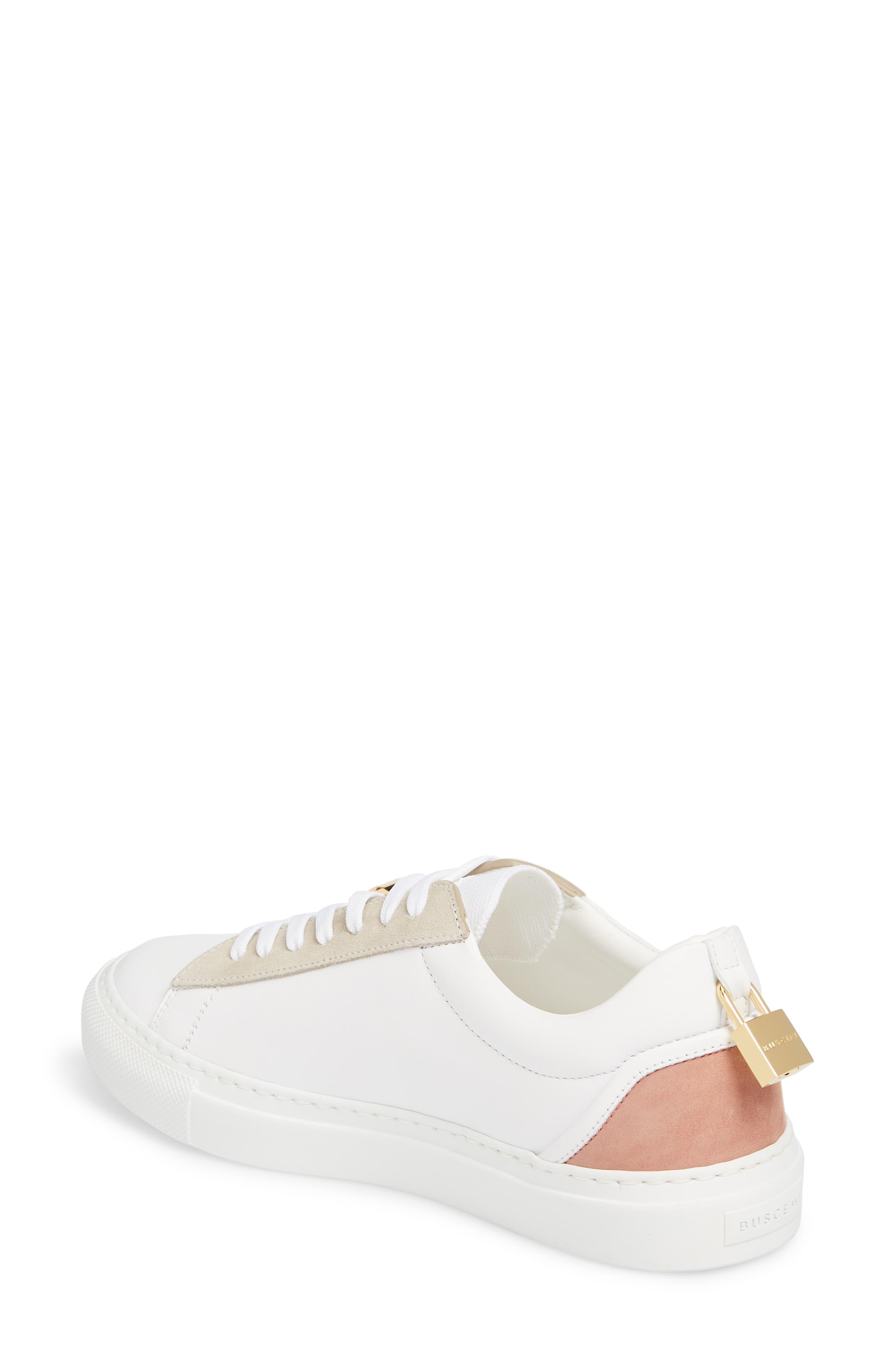 Tennis Lock Sneaker,                             Alternate thumbnail 2, color,                             White/ Dusty Pink