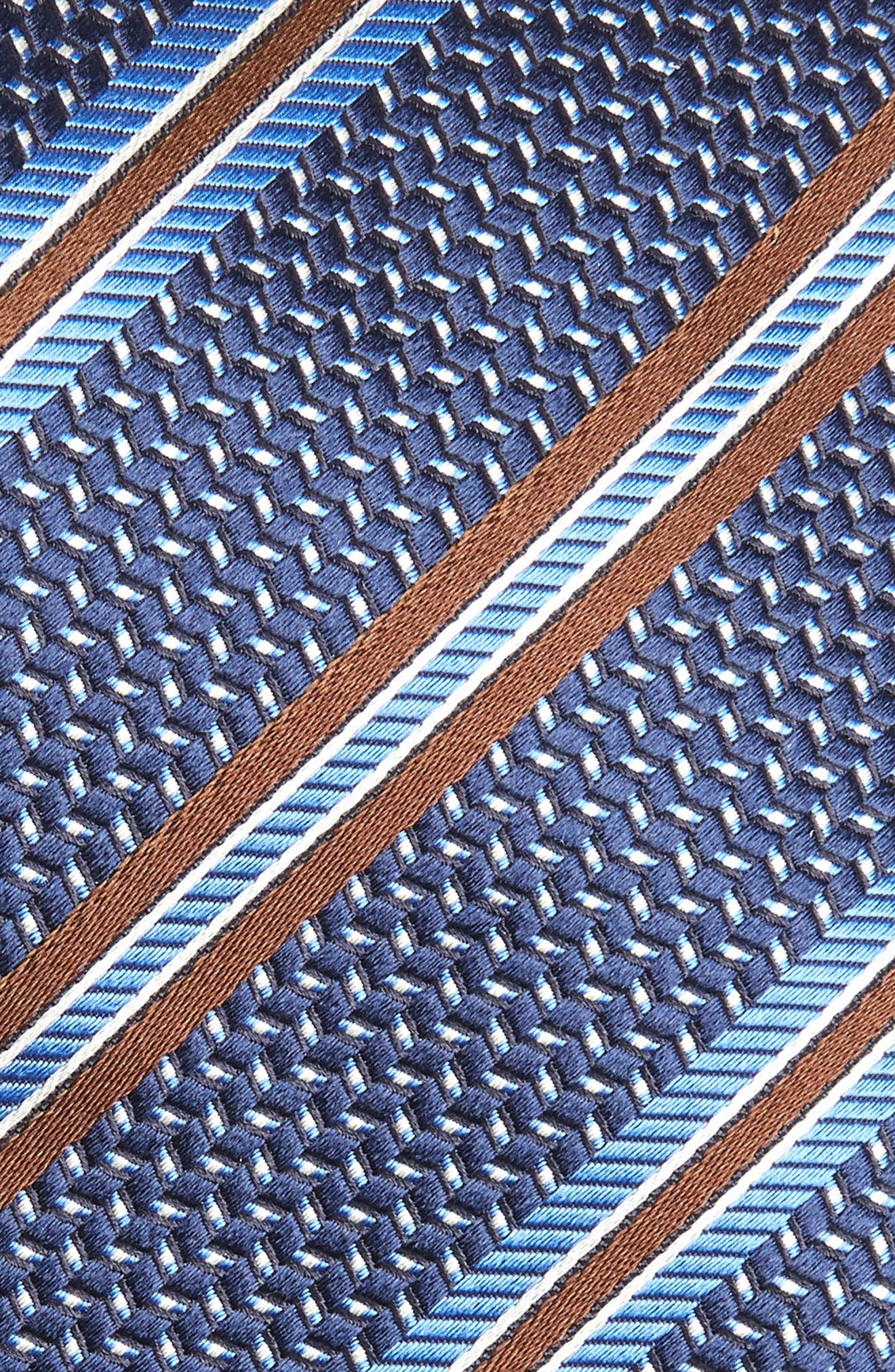 Stripe Silk Tie,                             Alternate thumbnail 2, color,                             Navy
