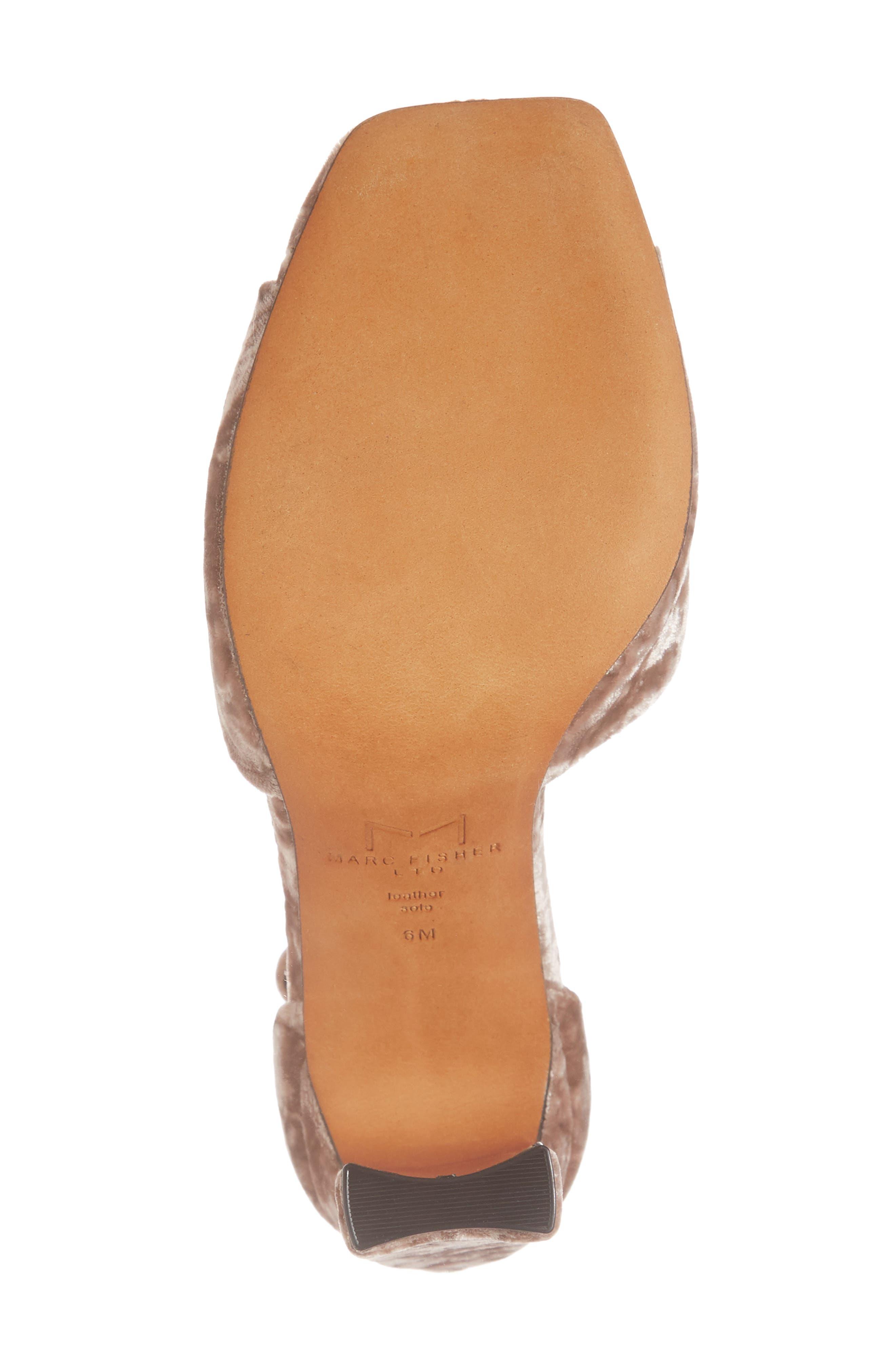 Harlin Ankle Strap Sandal,                             Alternate thumbnail 3, color,                             Light Pink Fabric