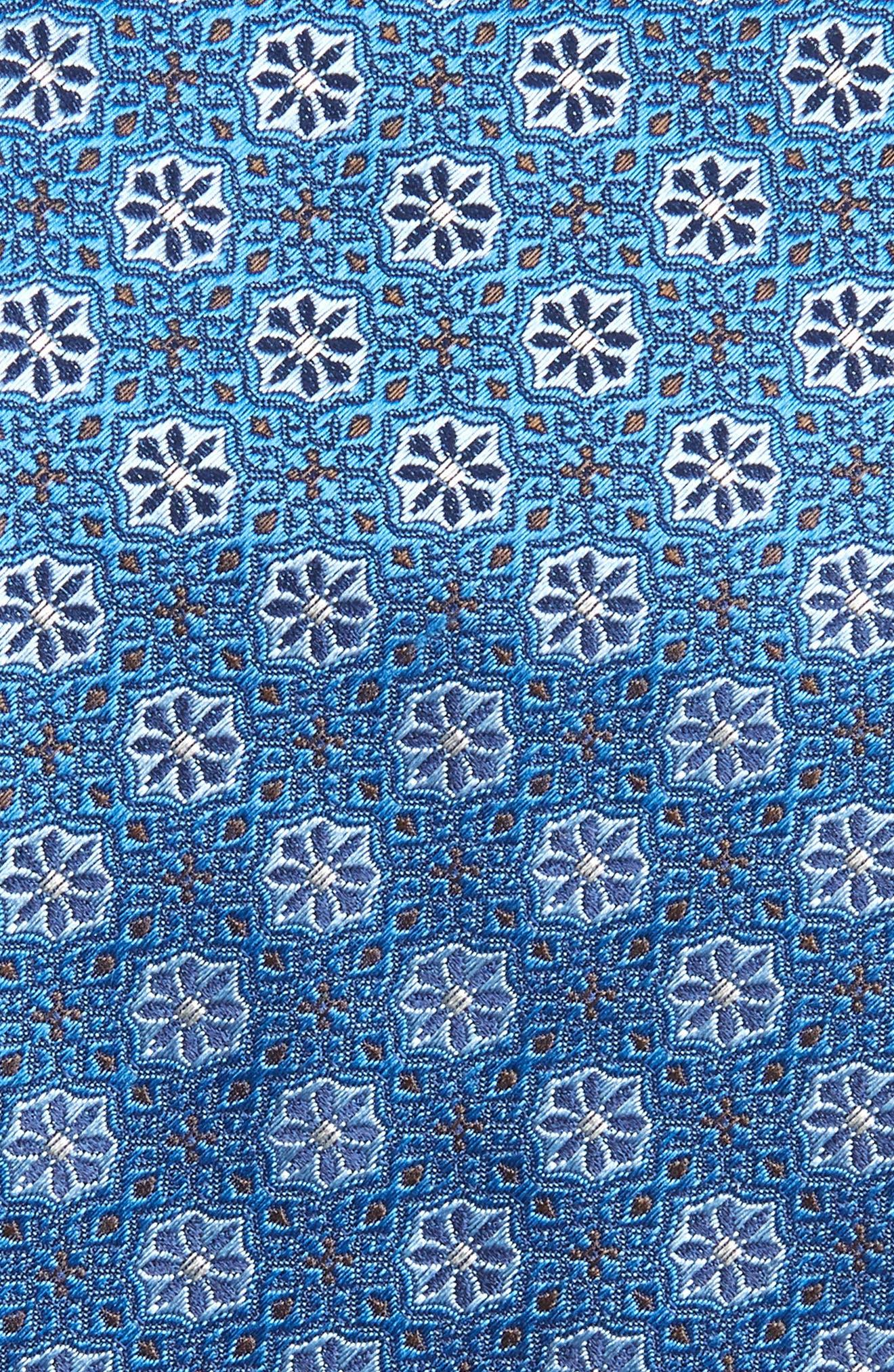 Medallion Silk Tie,                             Alternate thumbnail 2, color,                             Turquoise