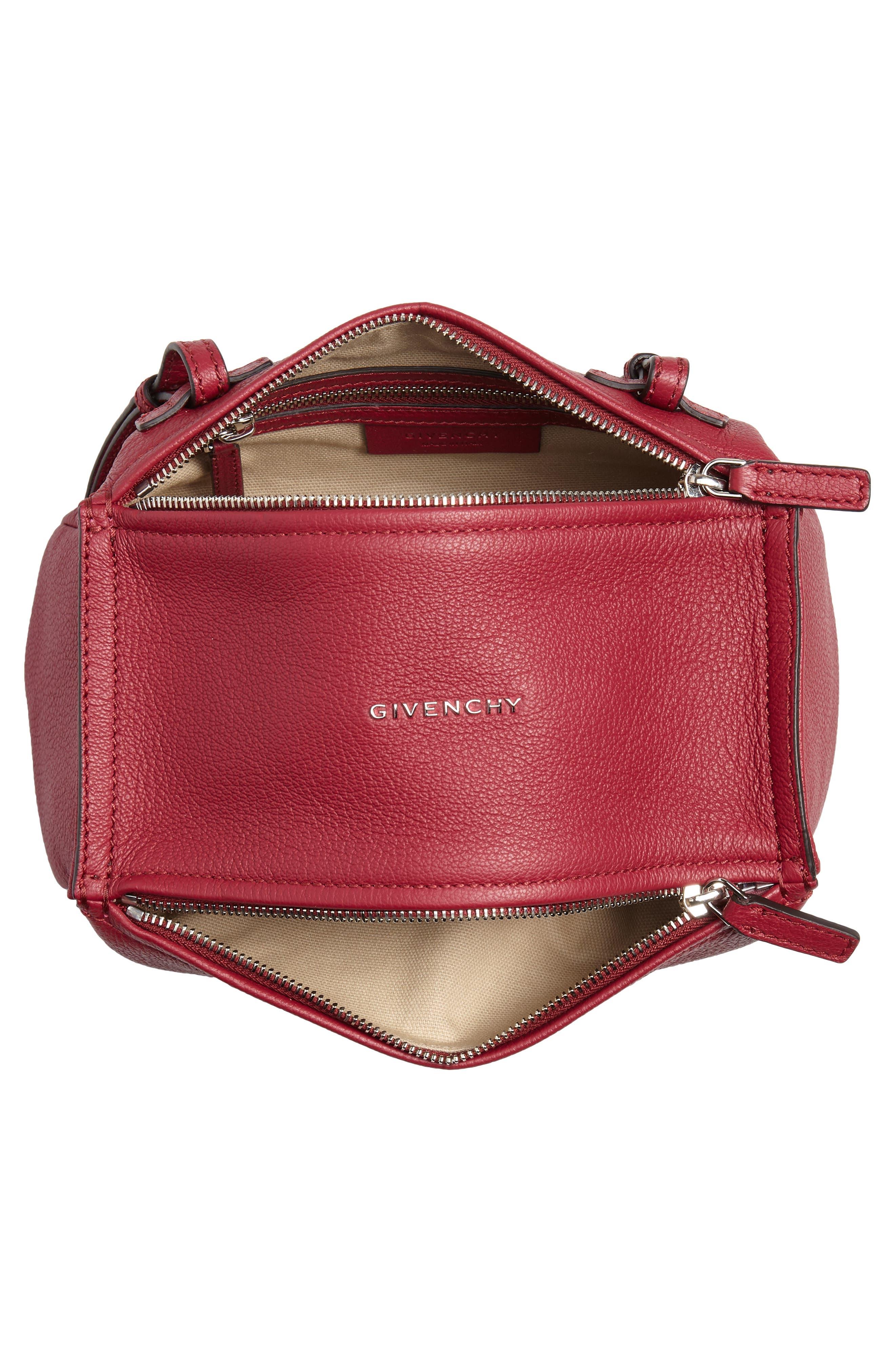 'Mini Pandora' Sugar Leather Shoulder Bag,                             Alternate thumbnail 6, color,                             Fig Pink