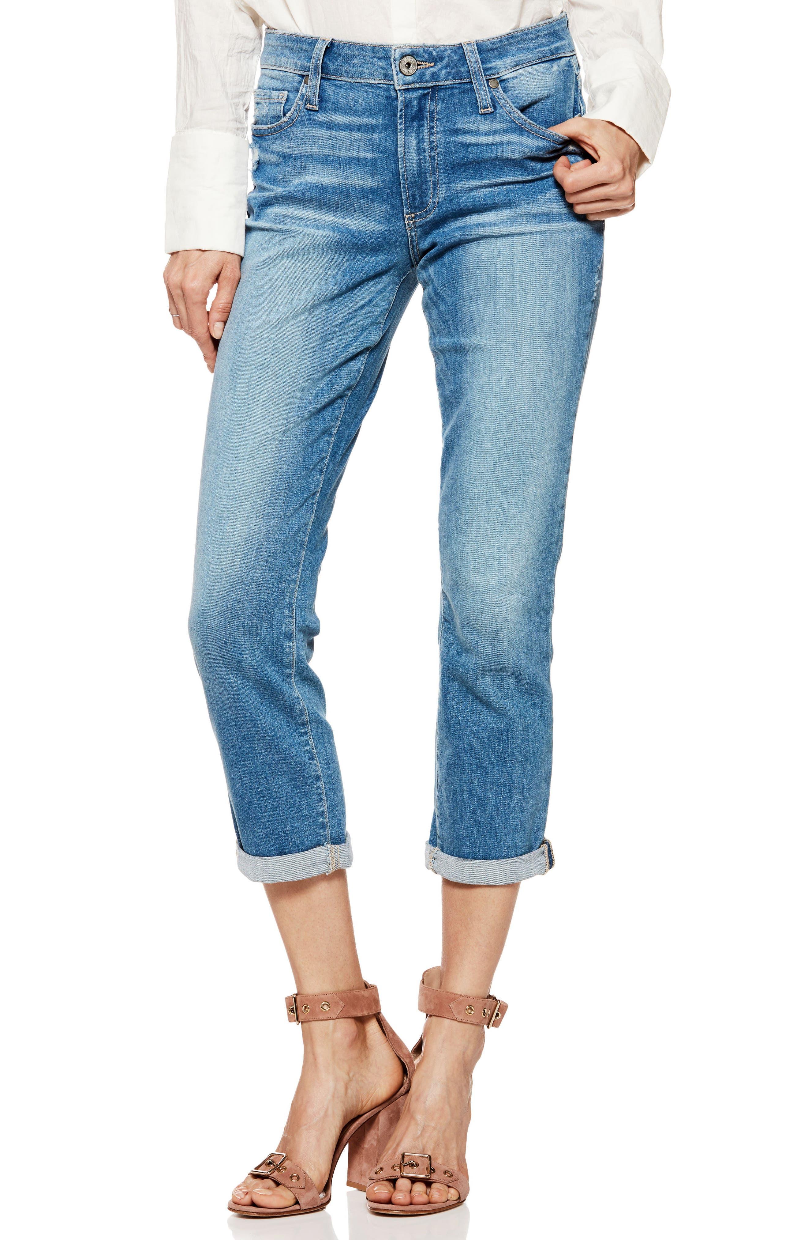 Transcend Vintage - Jimmy Jimmy High Waist Crop Boyfriend Jeans,                         Main,                         color, Venice