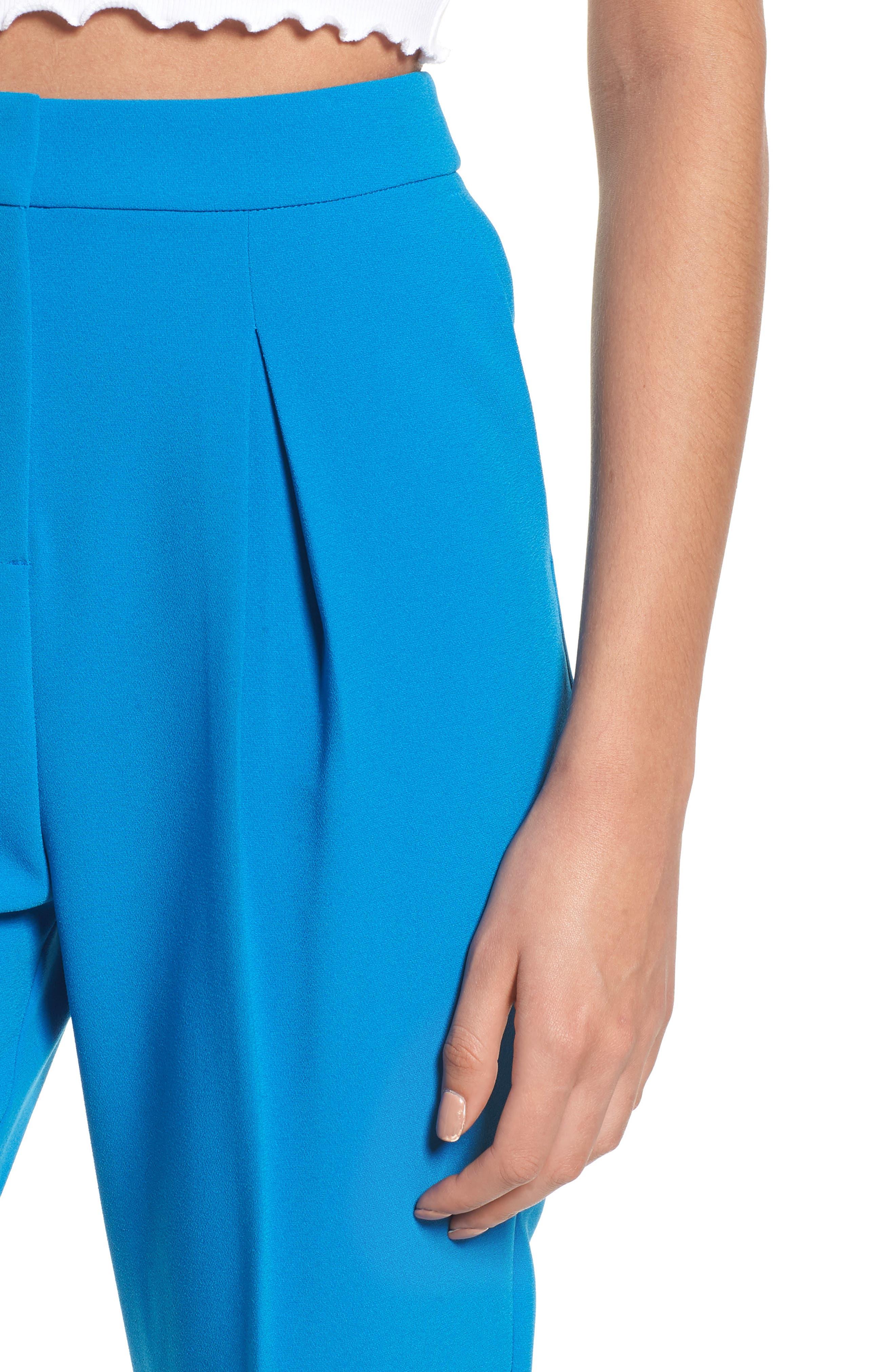 Clara Peg Belted Trousers,                             Alternate thumbnail 4, color,                             Cobalt