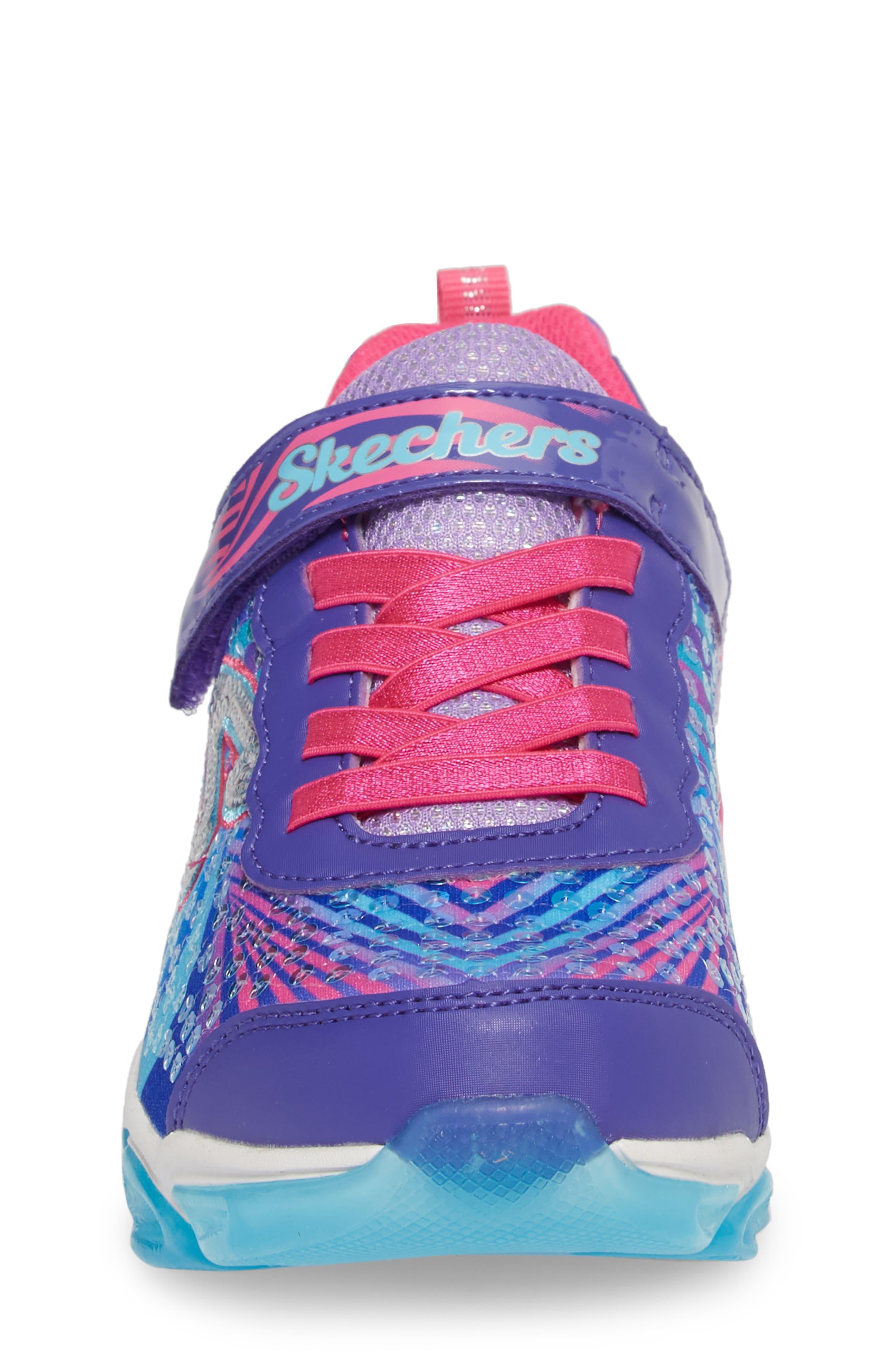 Jelly Beams Light-Up Sneaker,                             Alternate thumbnail 4, color,                             Purple/ Multi