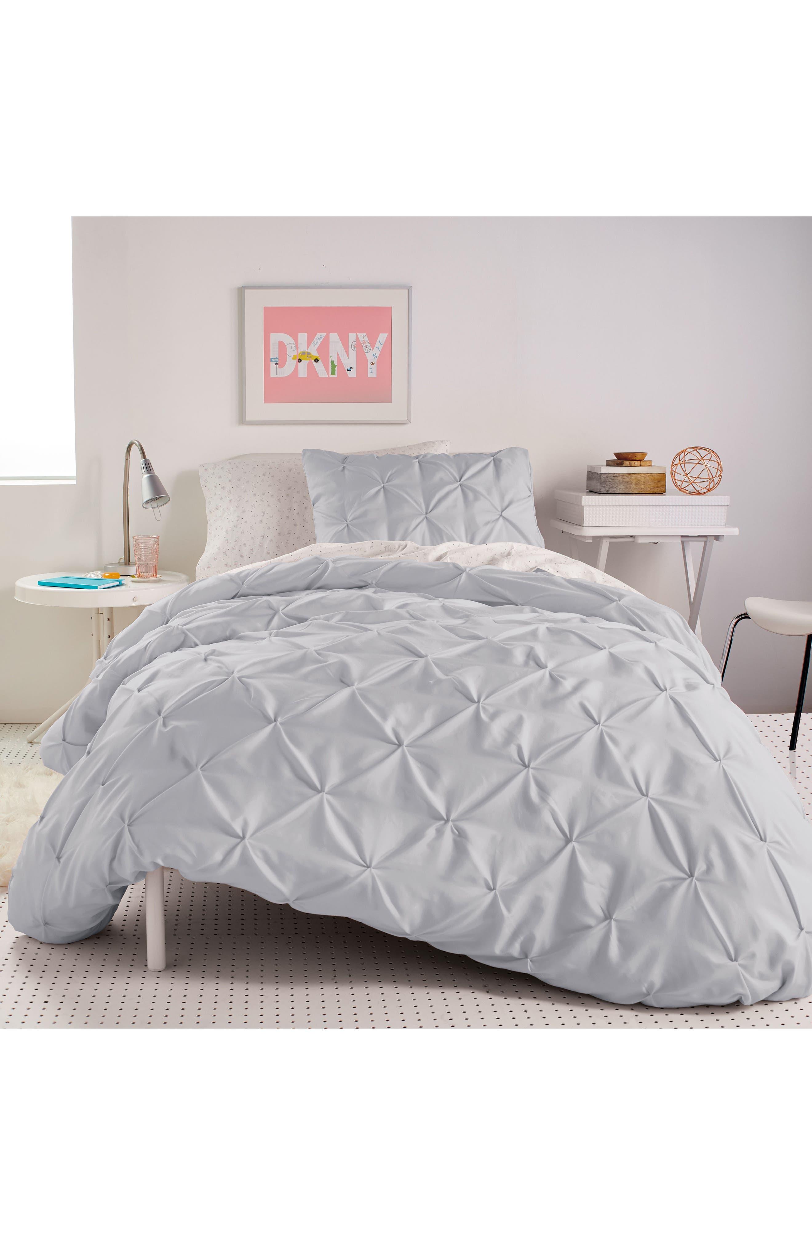 Comforter & Sham Set,                             Main thumbnail 1, color,                             Grey