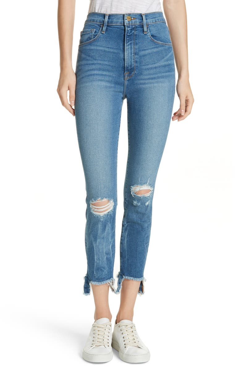Ali Ripped High Waist Crop Skinny Jeans