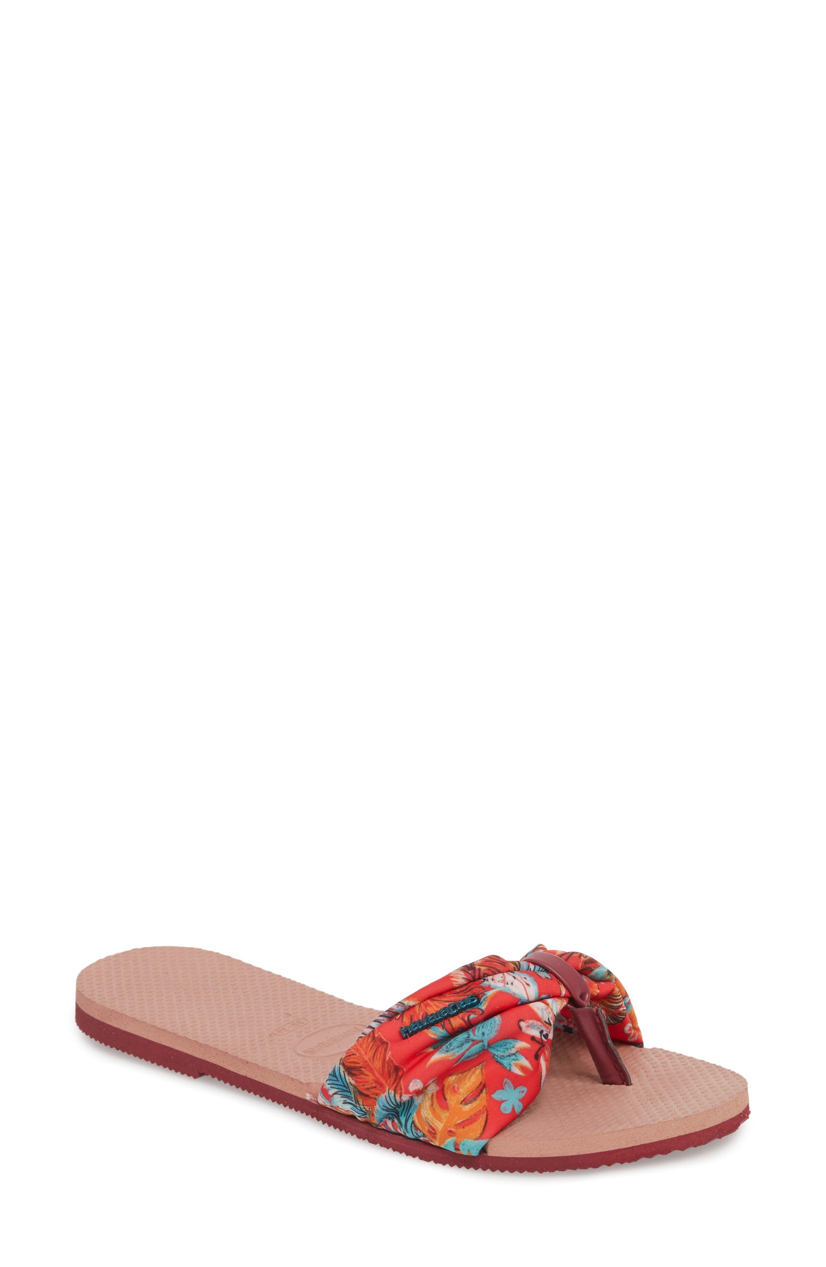 You Saint Tropez Textile Print Cinched Sandals