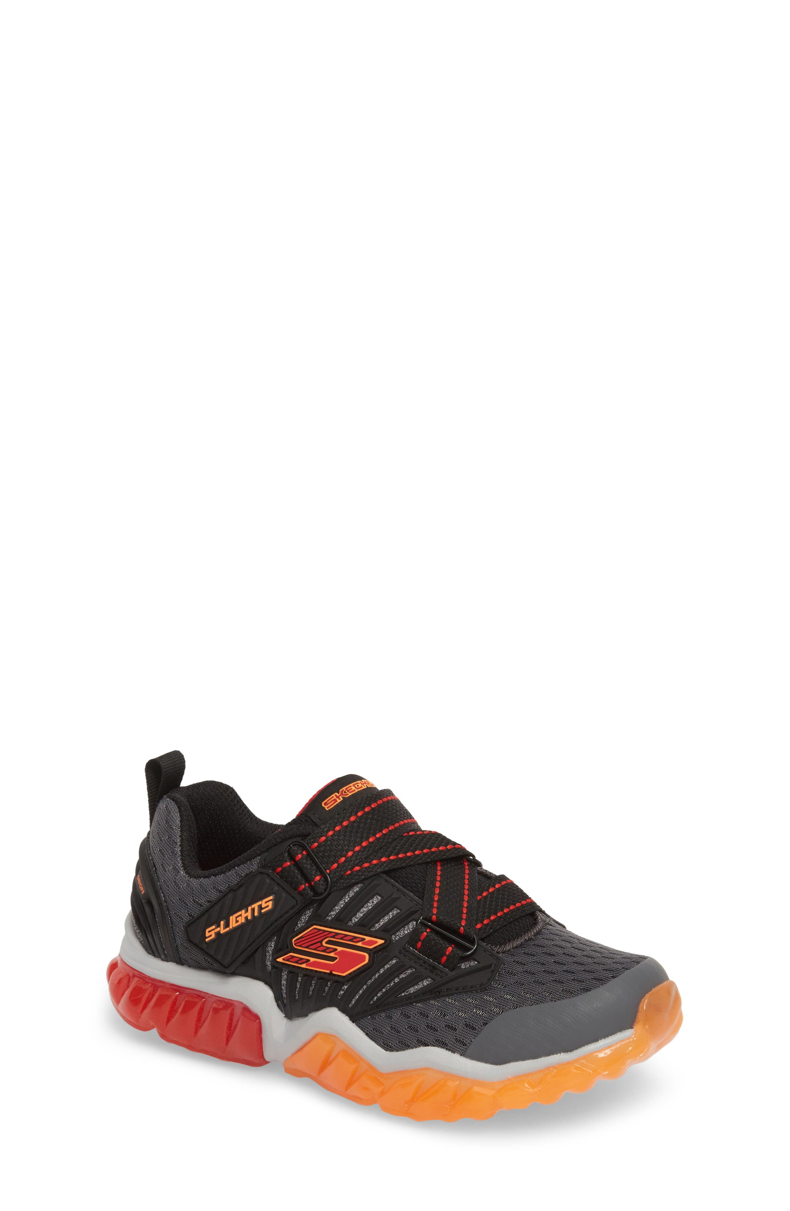 Rapid Flash Light-Up Sneaker,                         Main,                         color, Charcoal/ Red