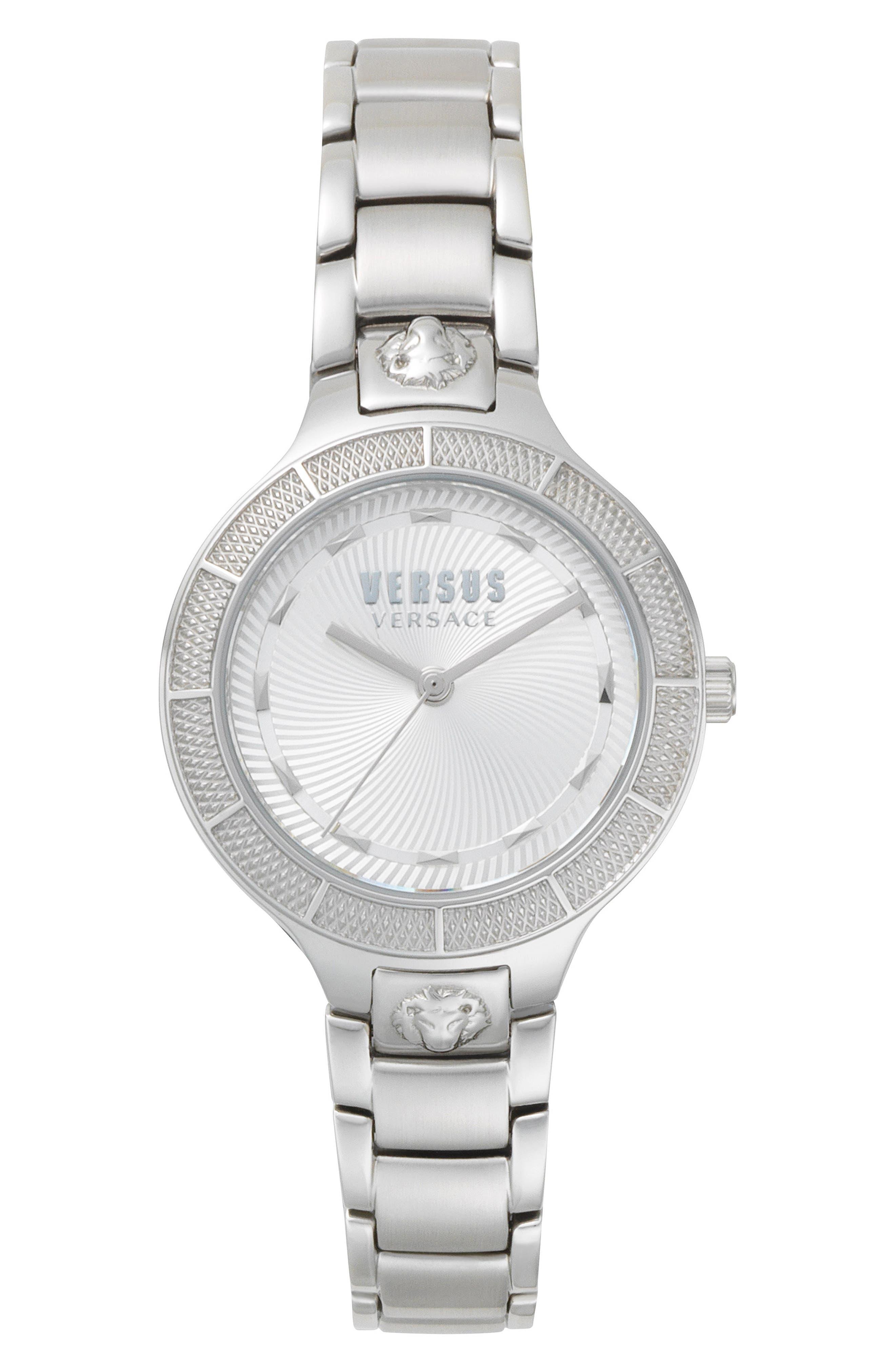 VERSUS by Versace Claremont Bracelet Watch, 32mm,                             Main thumbnail 1, color,                             Silver