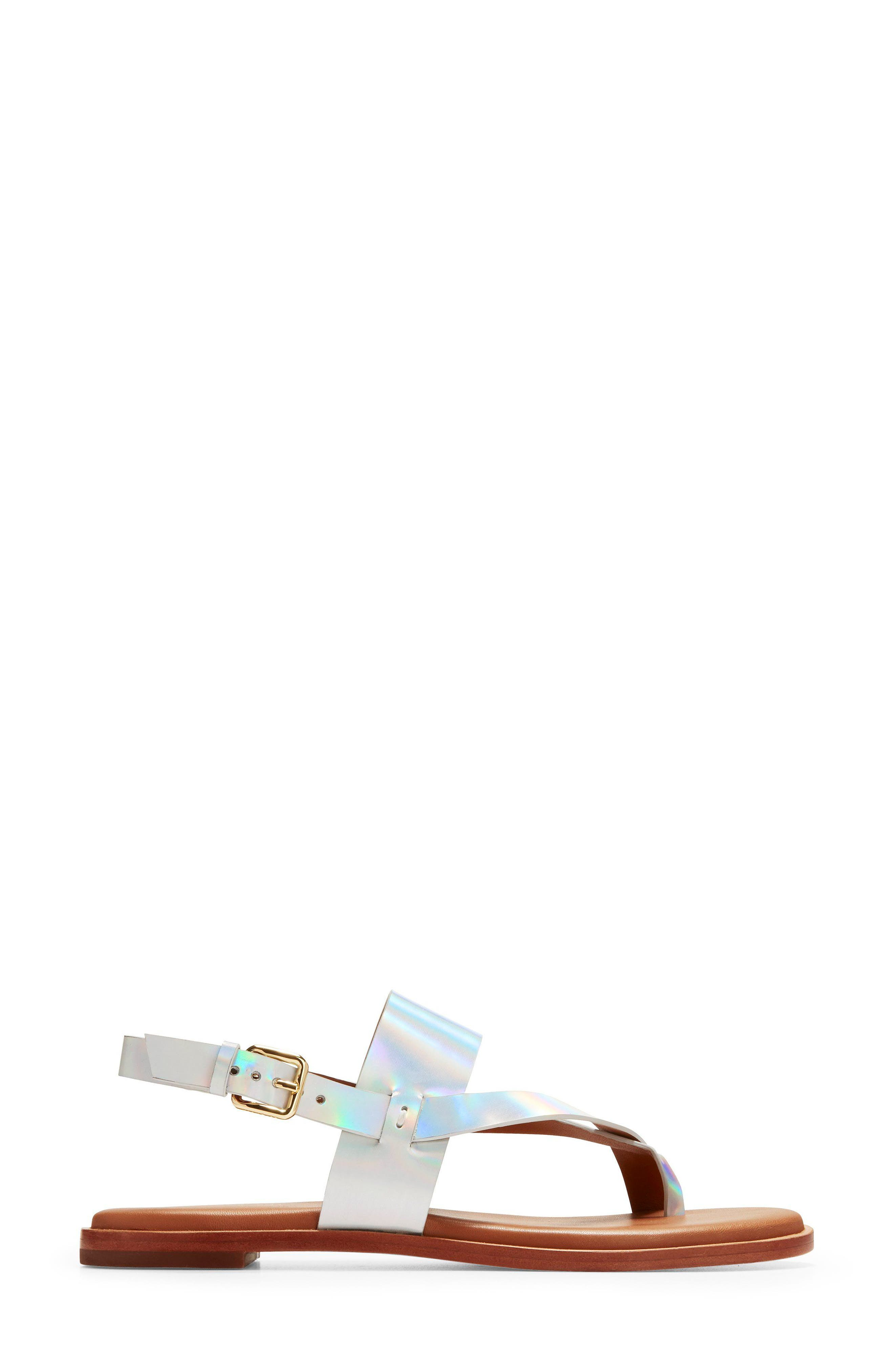 Anica Sandal,                             Alternate thumbnail 4, color,                             Iridescent Leather