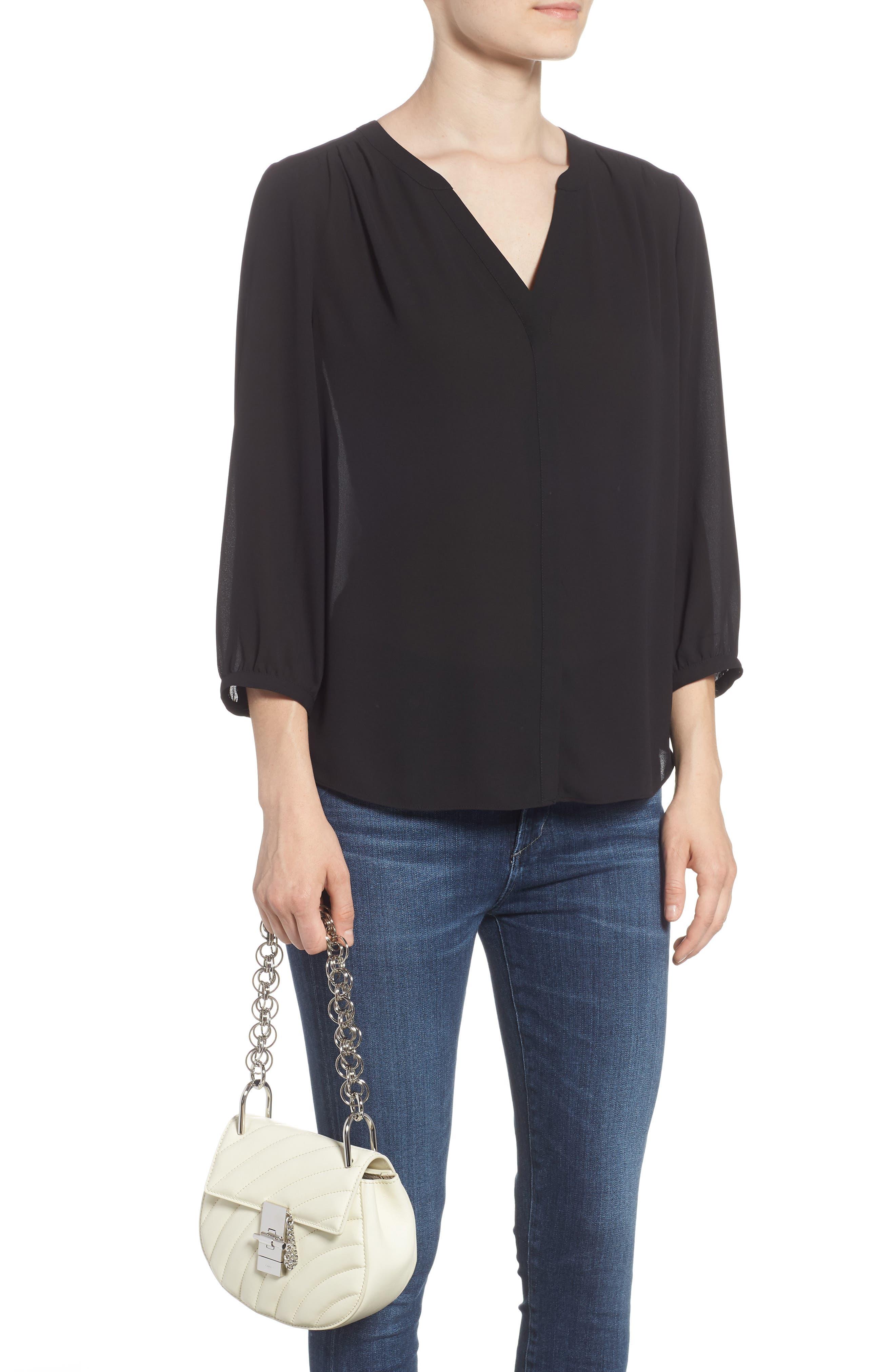 Mini Drew Bijoux Leather Shoulder Bag,                             Alternate thumbnail 2, color,                             Natural White