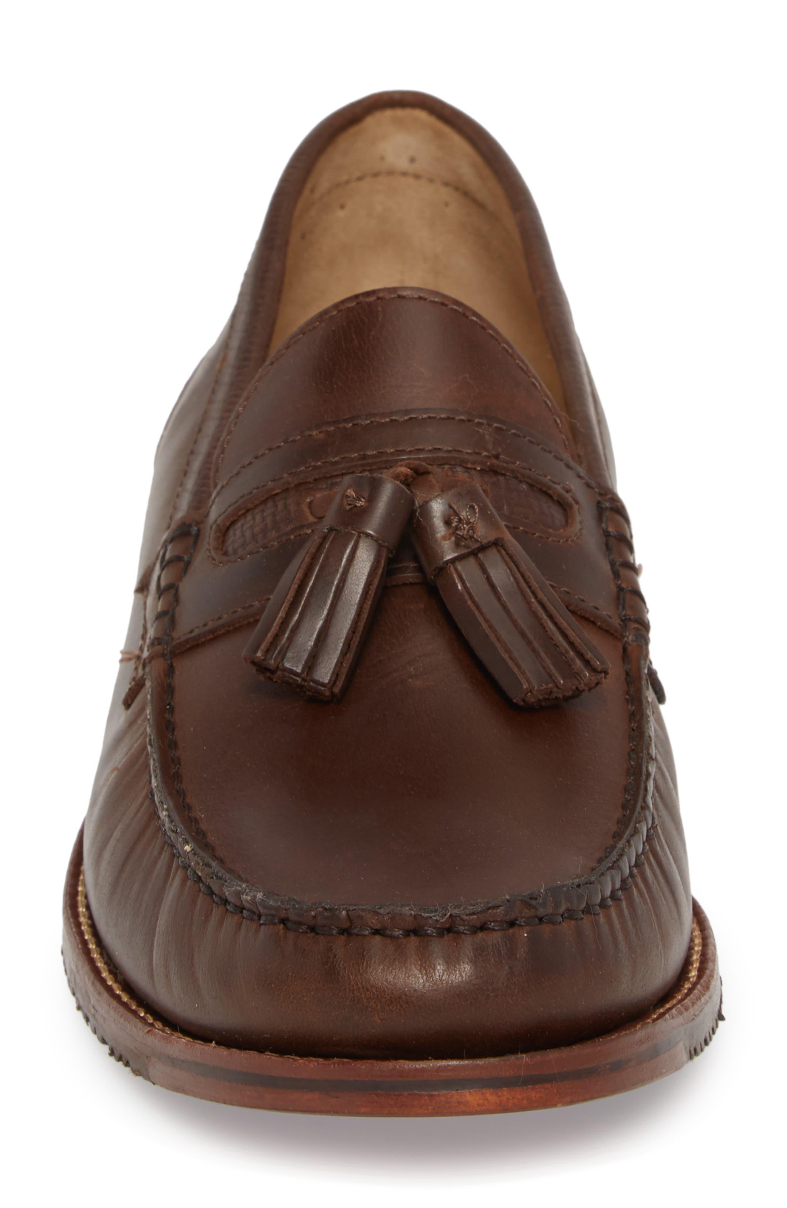 Tasslington Loafer,                             Alternate thumbnail 5, color,                             Dark Brown Leather