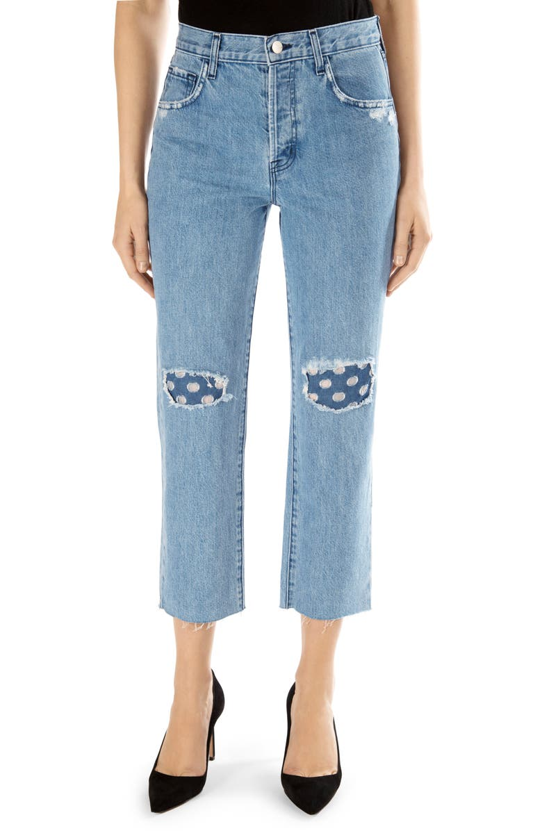 Wynne High Waist Crop Straight Leg Jeans