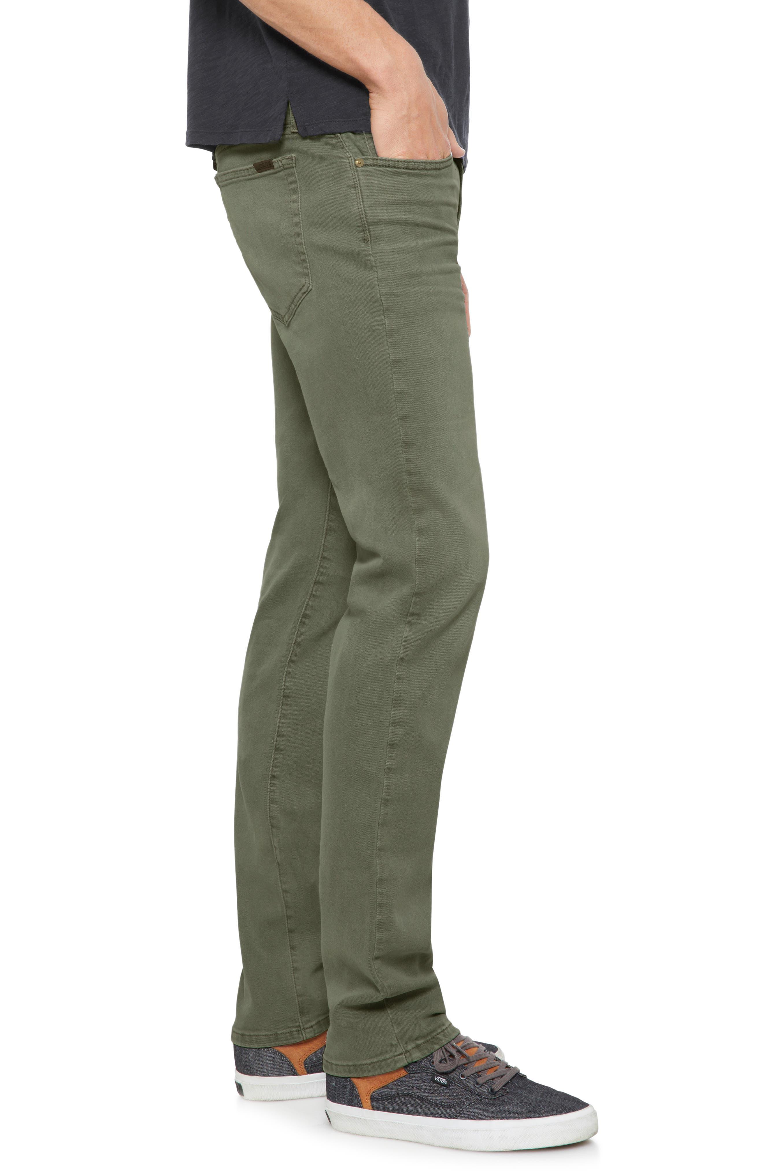 Brixton Slim Straight Leg Jeans,                             Alternate thumbnail 3, color,                             Olive Tree