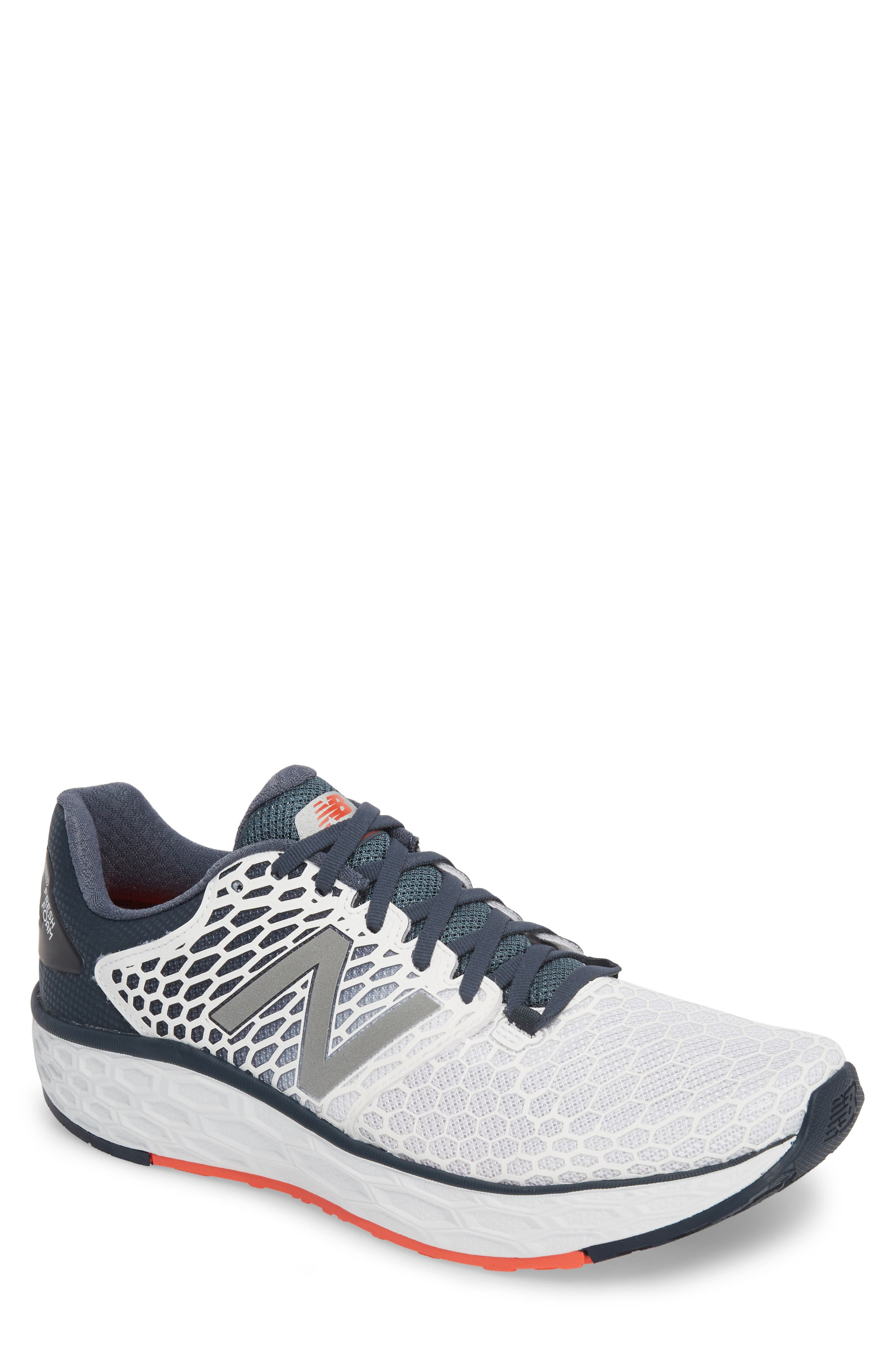 Fresh Foam Vongo v3 Running Shoe,                             Main thumbnail 1, color,                             White