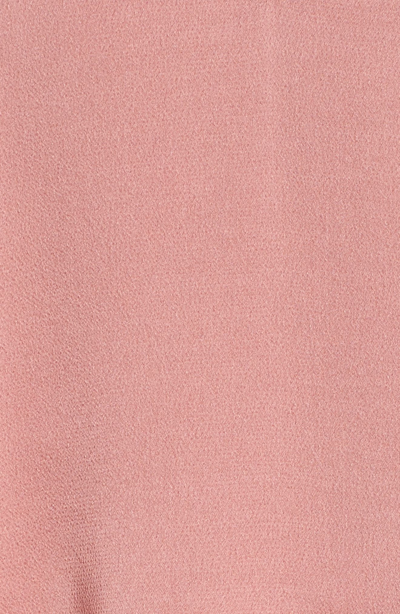 Luxe Frill Tulip Hem Maxi Dress,                             Alternate thumbnail 5, color,                             Rose