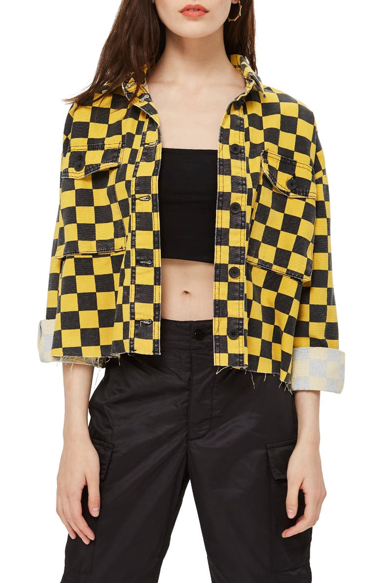 Yellow Checkerboard Jacket