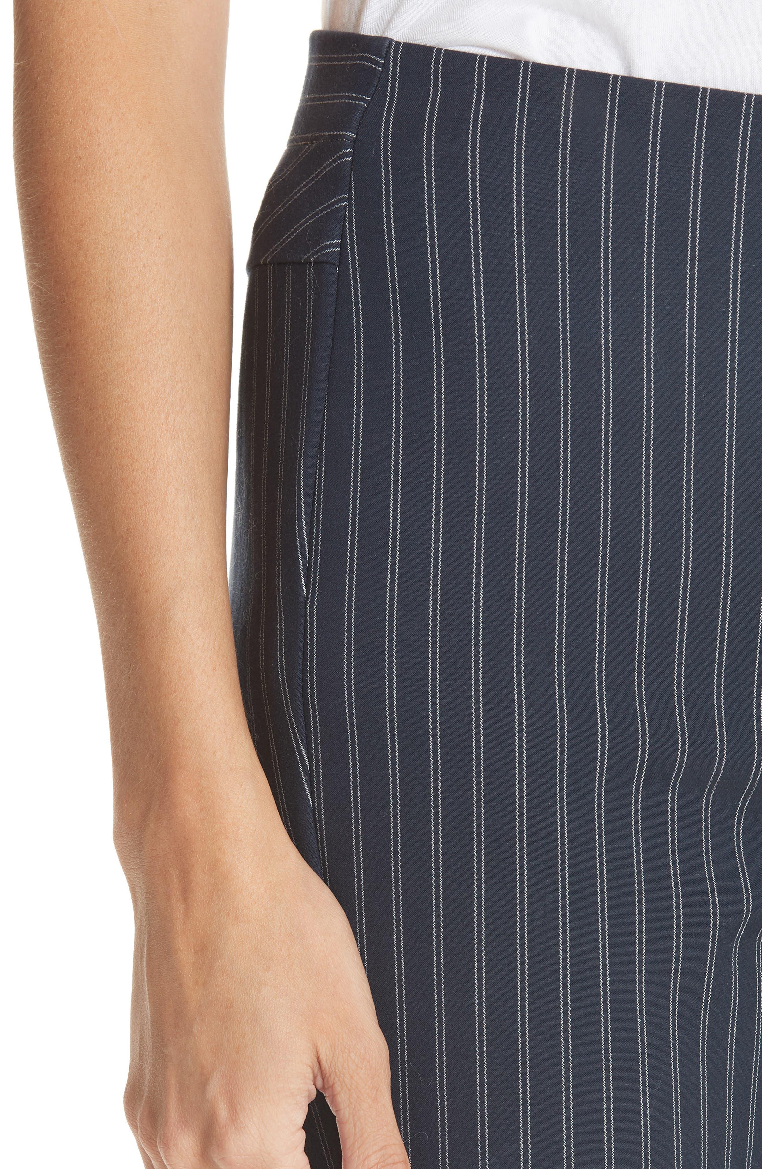 Simone Pinstripe Pants,                             Alternate thumbnail 5, color,                             Navy/ White