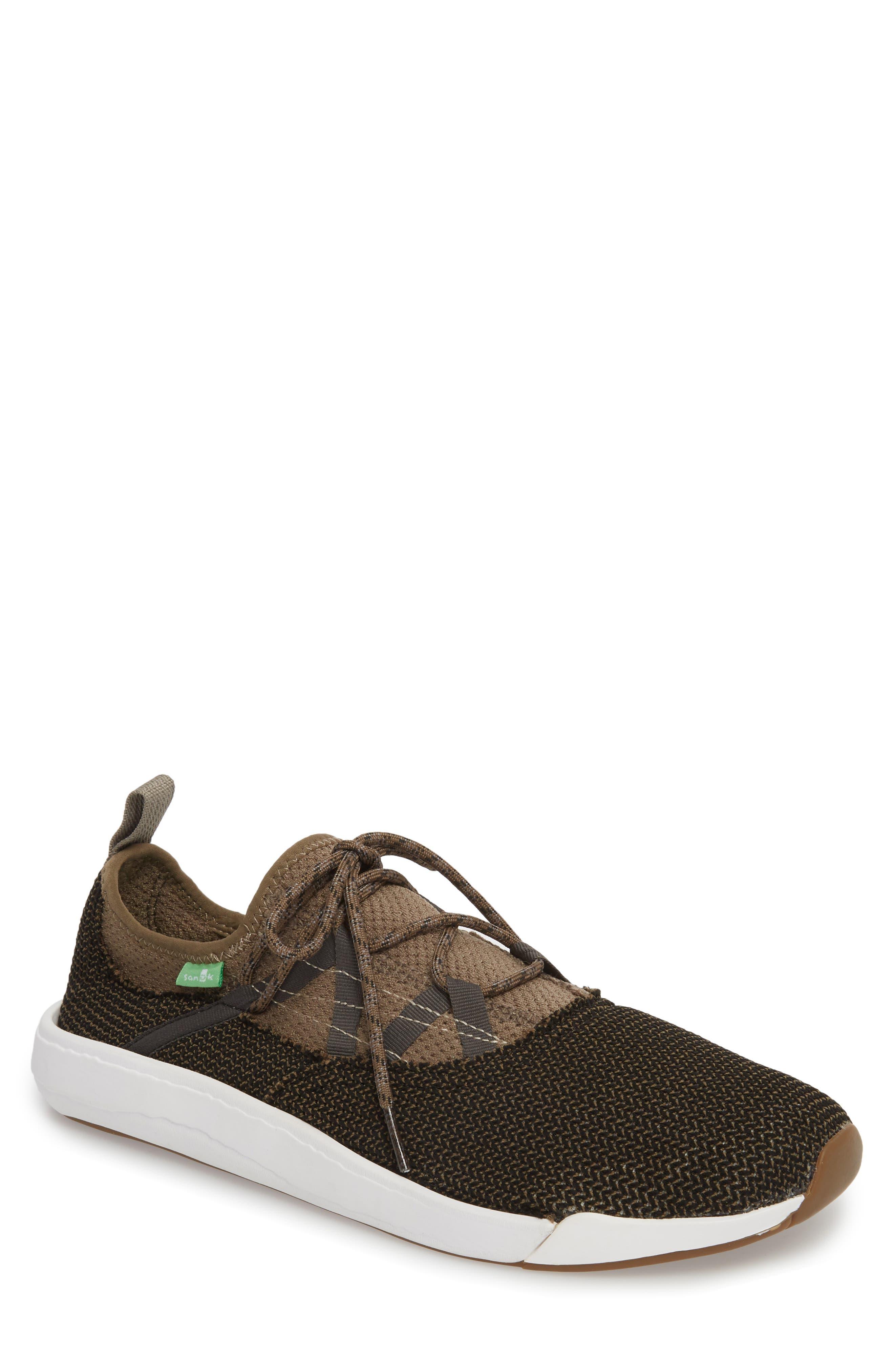 Chiba Quest Knit Sneaker,                             Main thumbnail 1, color,                             Brindle/ Black
