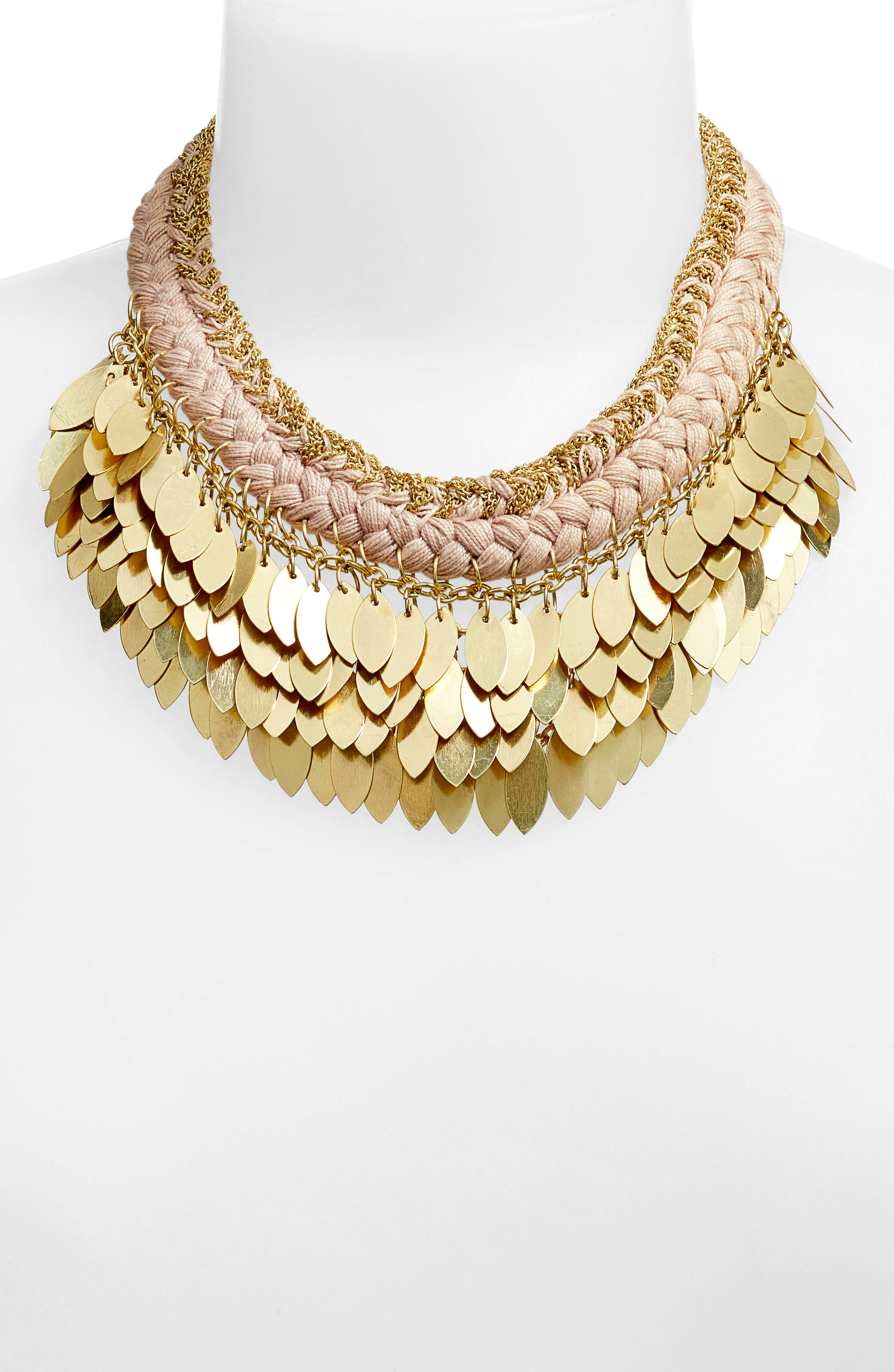 Collar Necklace,                             Alternate thumbnail 2, color,                             Nude