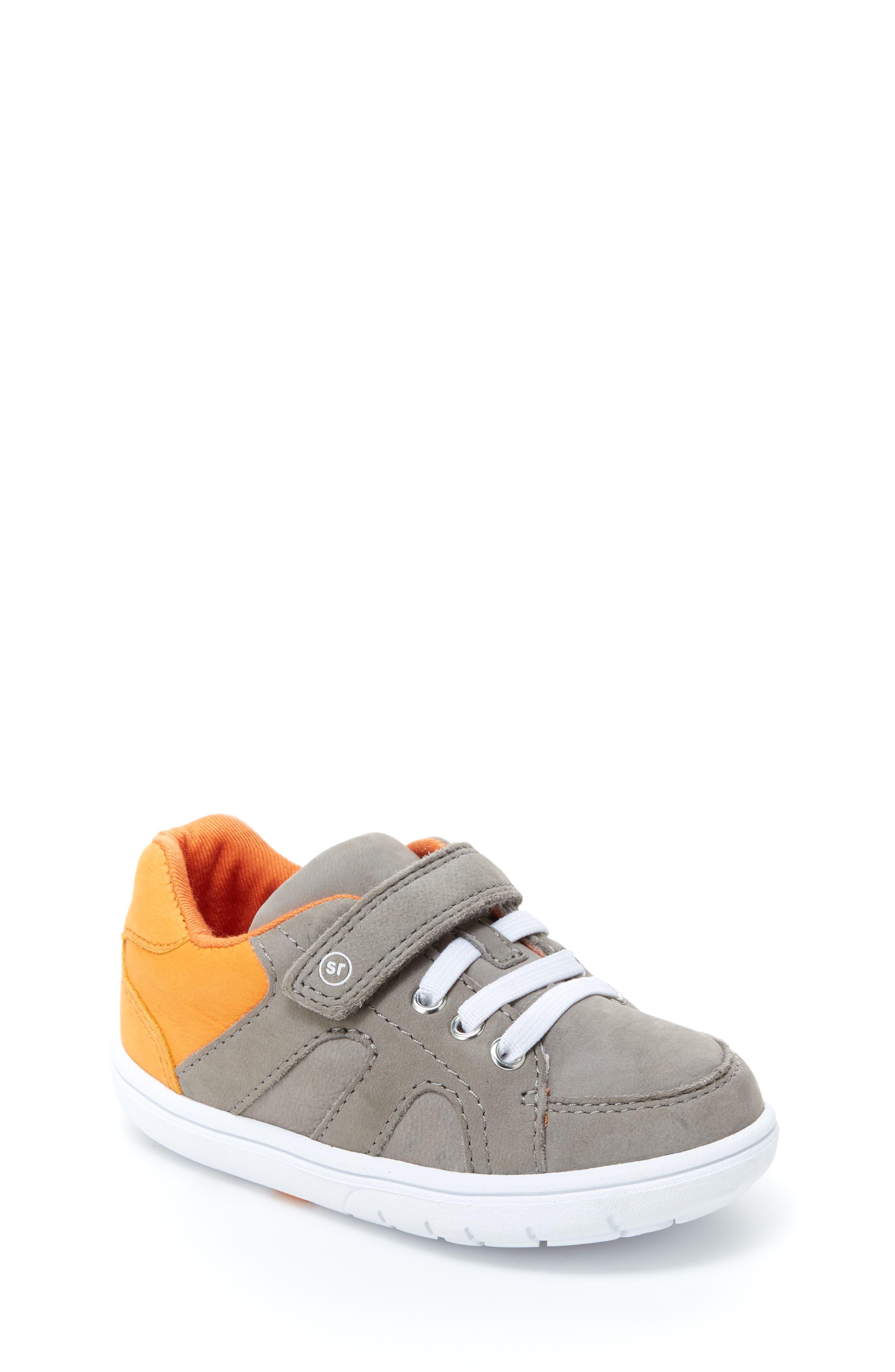 SRT Noe Sneaker,                             Main thumbnail 1, color,                             Grey/ Orange