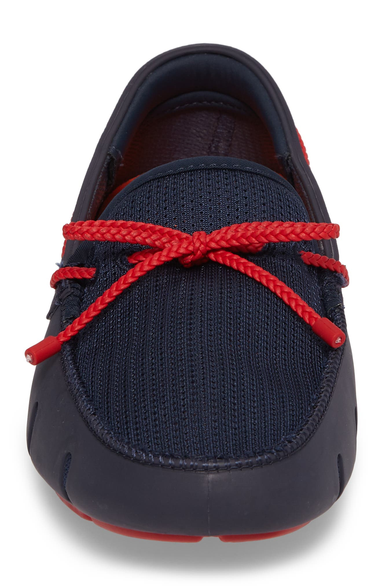 Lace Loafer,                             Alternate thumbnail 4, color,                             Navy/ Navy/ Red