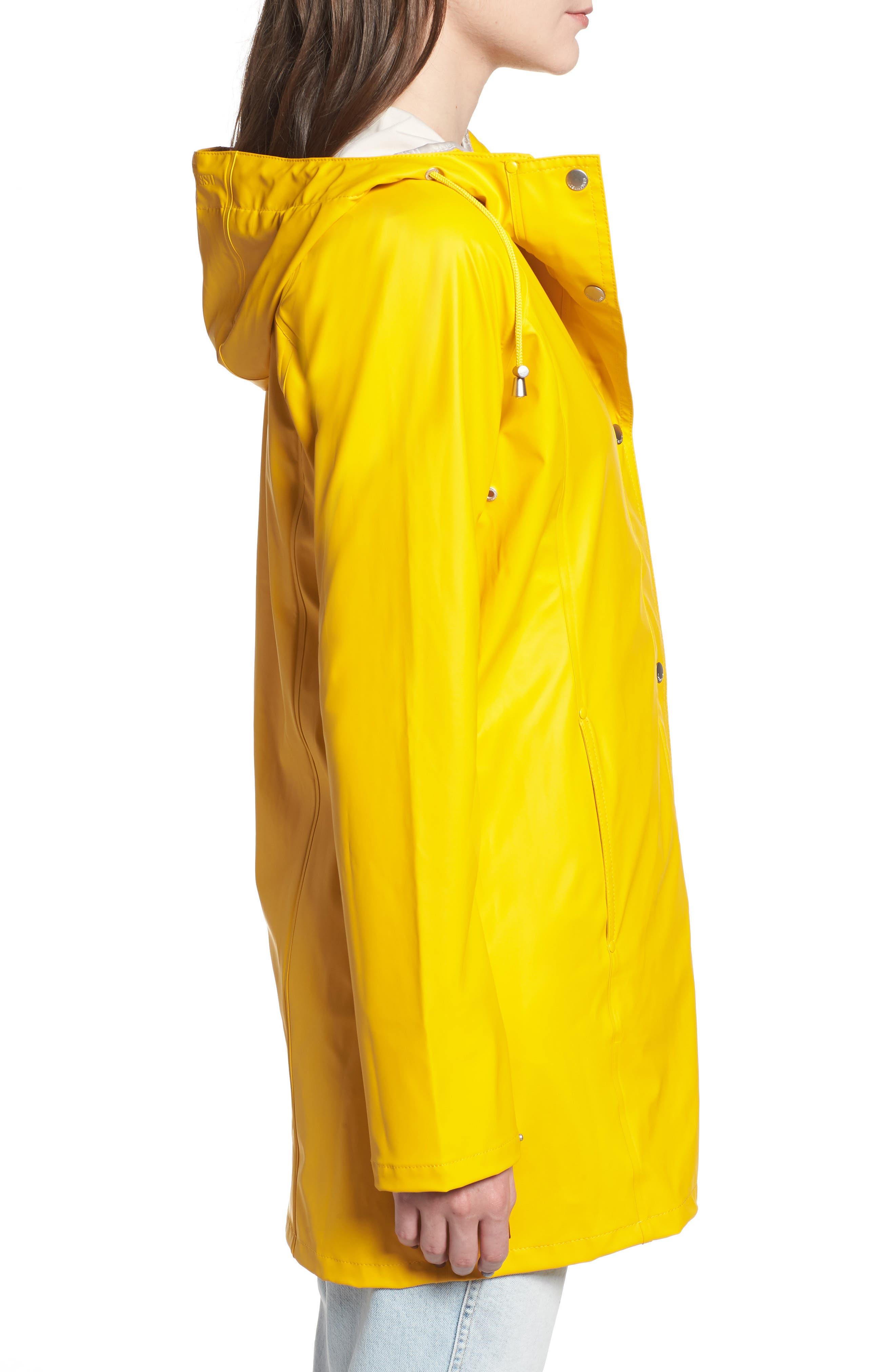 Illse Jacobsen Hornbaek Raincoat,                             Alternate thumbnail 6, color,                             Cyber Yellow