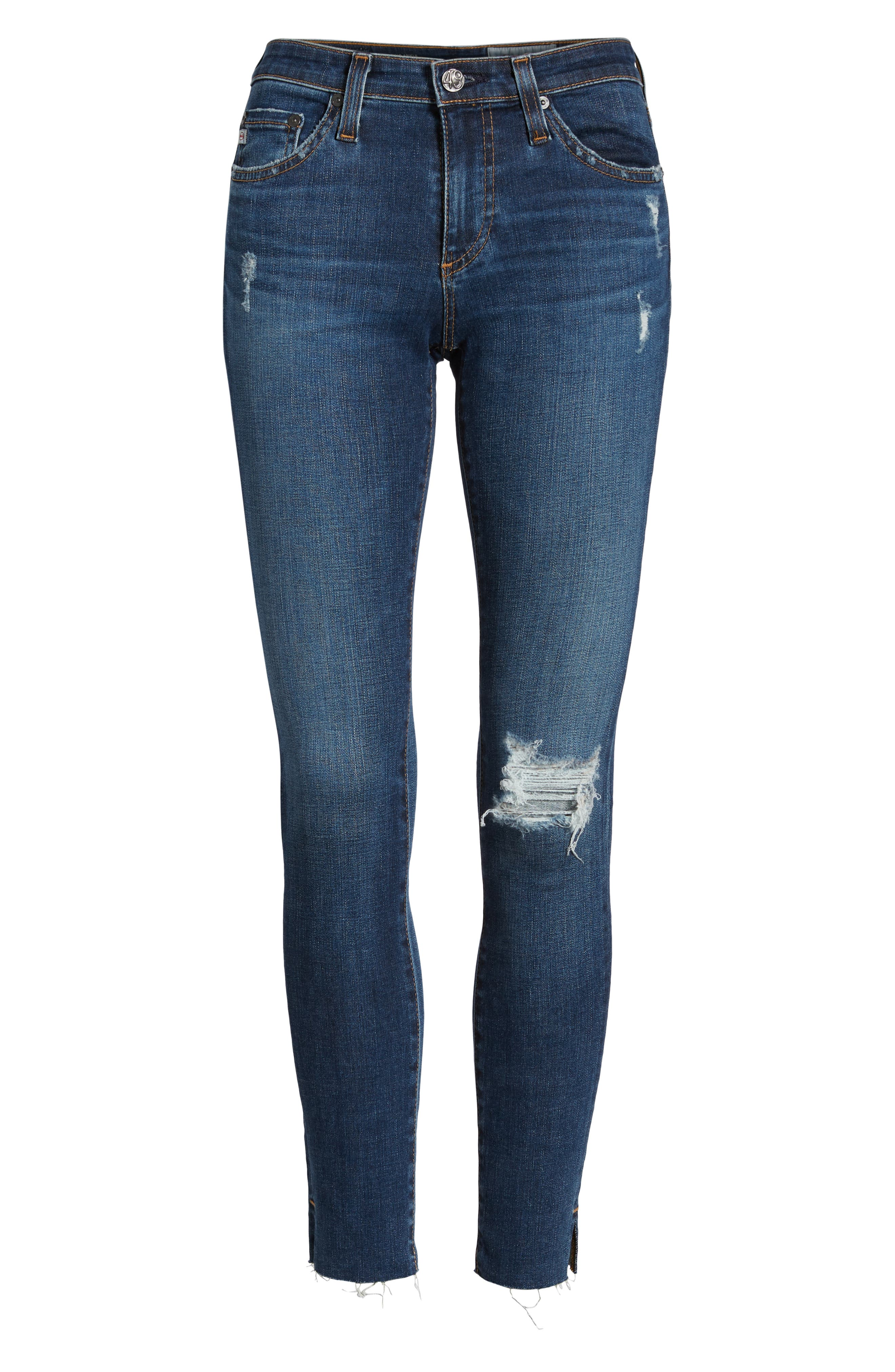 The Legging Ripped Ankle Skinny Jeans,                             Alternate thumbnail 7, color,                             04 Years Lucid Quartz