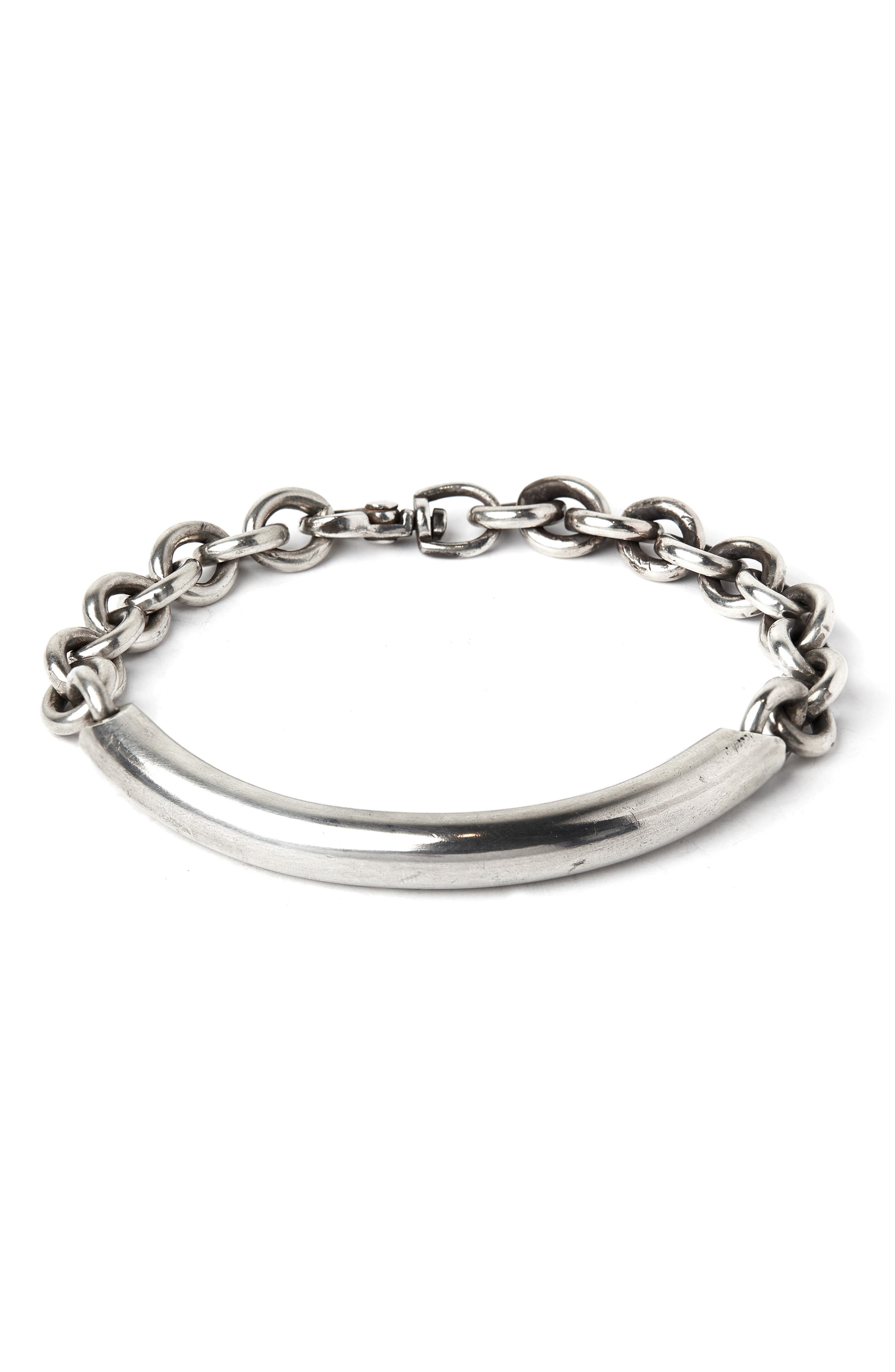 TITLE OF WORK Round Cable Bracelet in Silver