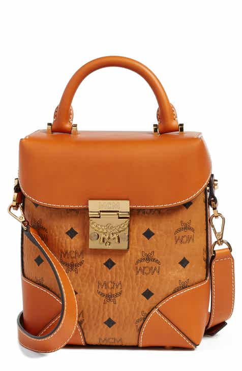Mcm Small Berlin North South Leather Crossbody Bag