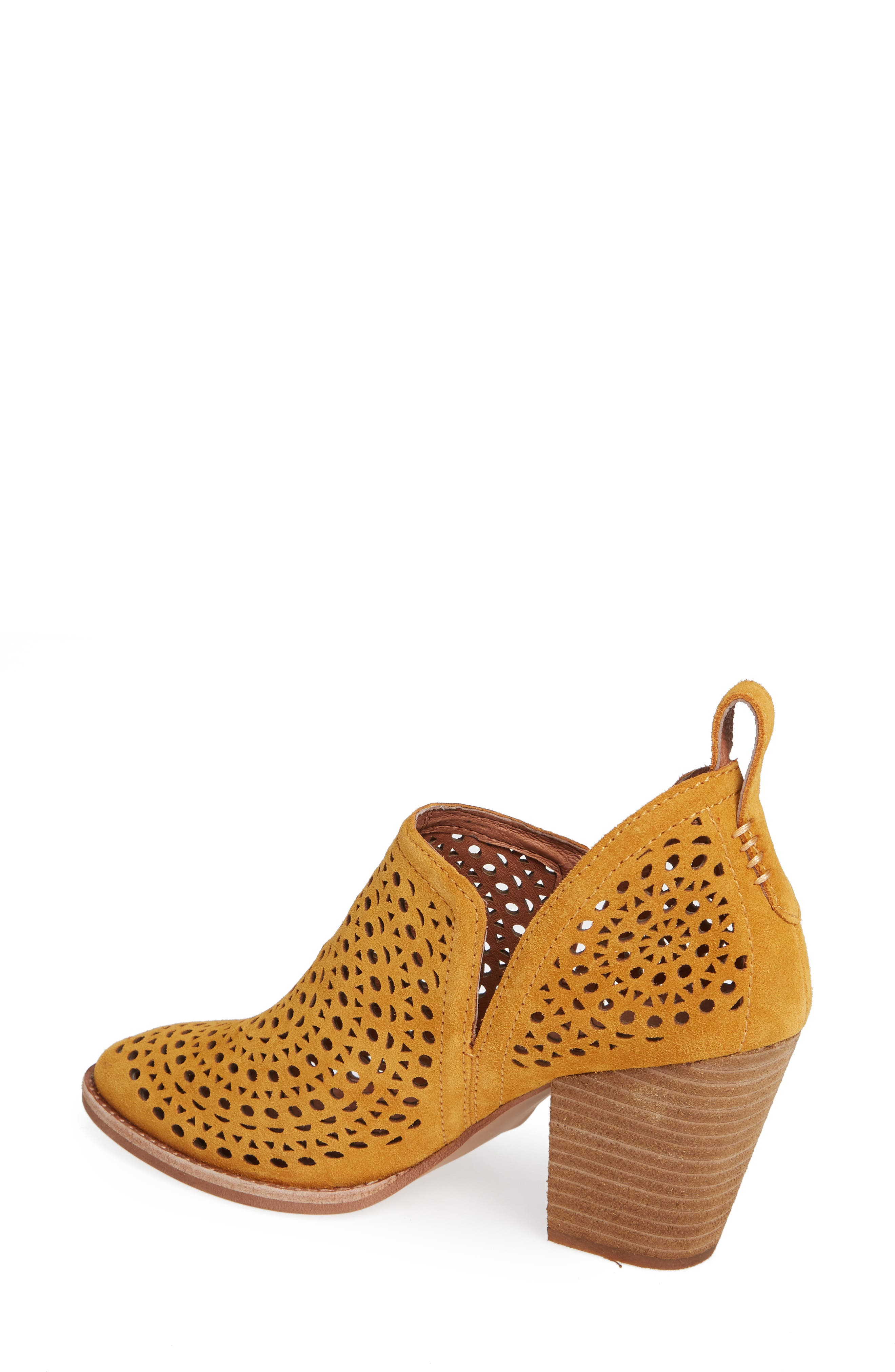 Rosalee Bootie,                             Alternate thumbnail 2, color,                             Mustard Suede