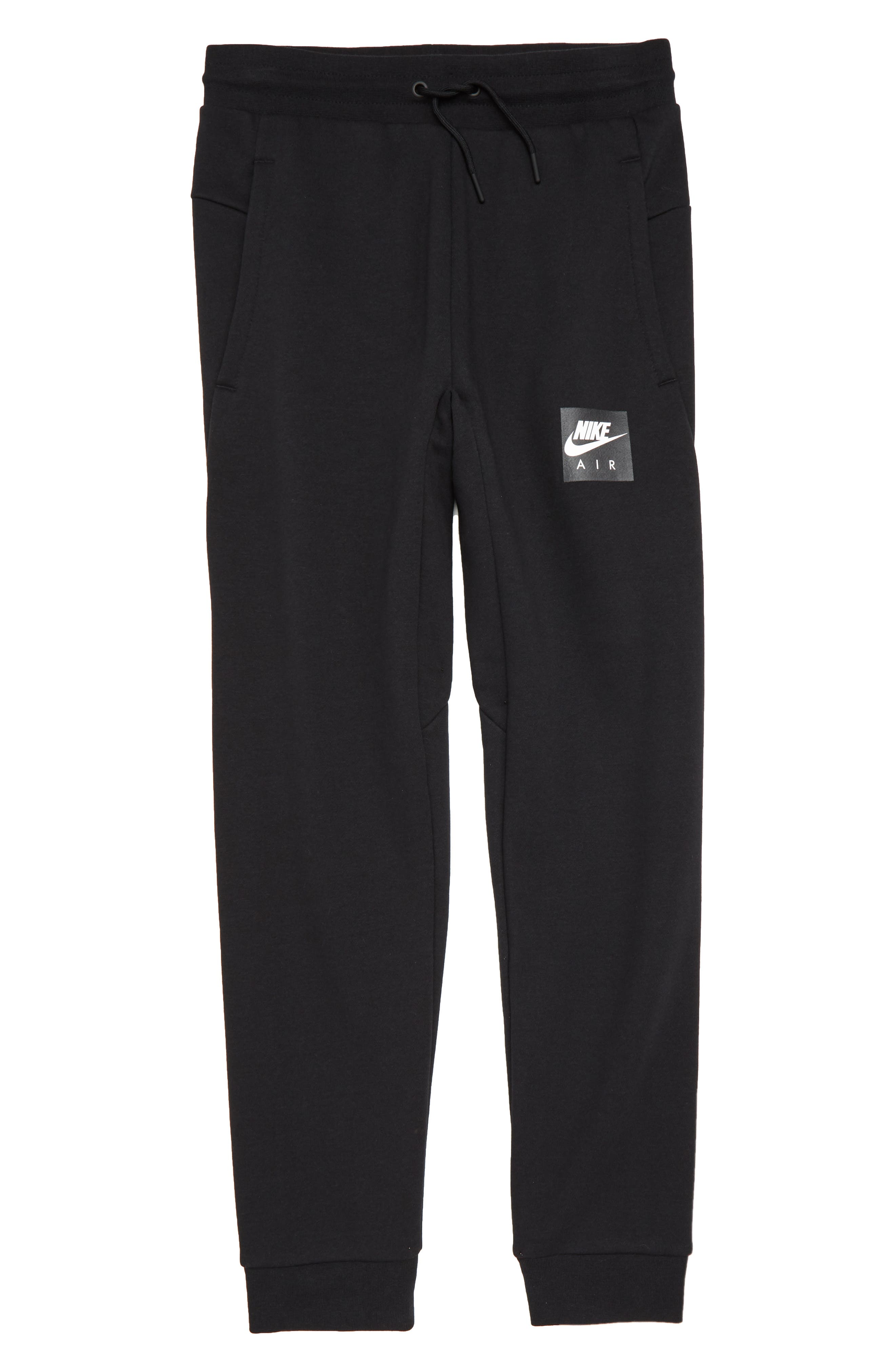 Air Fleece Jogger Pants,                             Main thumbnail 1, color,                             Black