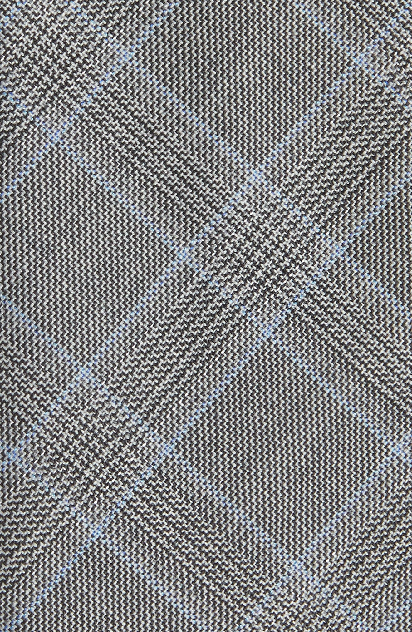 Plaid Wool Tie,                             Alternate thumbnail 2, color,                             Open Grey
