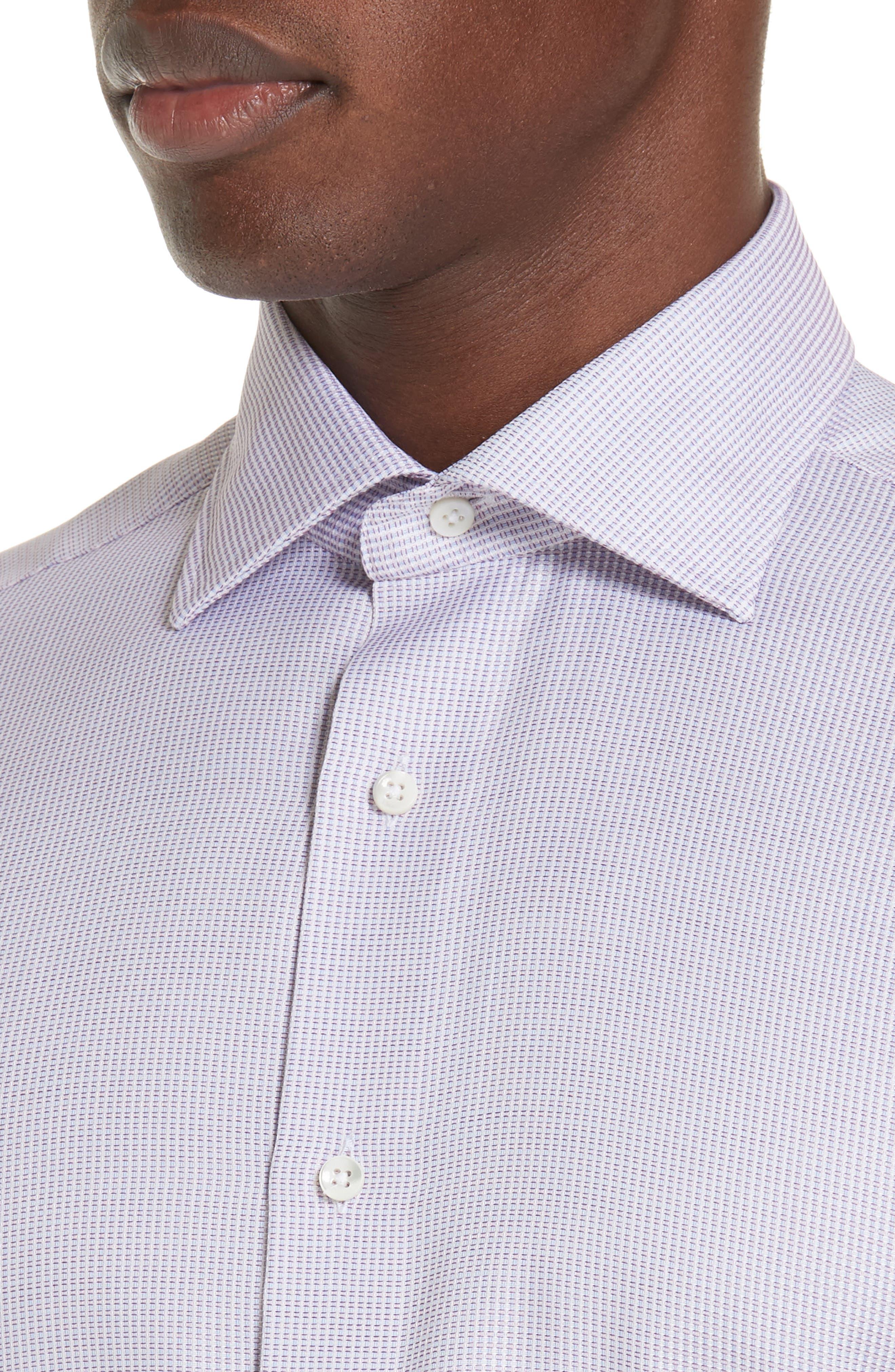 Regular Fit Stripe Dress Shirt,                             Alternate thumbnail 2, color,                             Light Pink