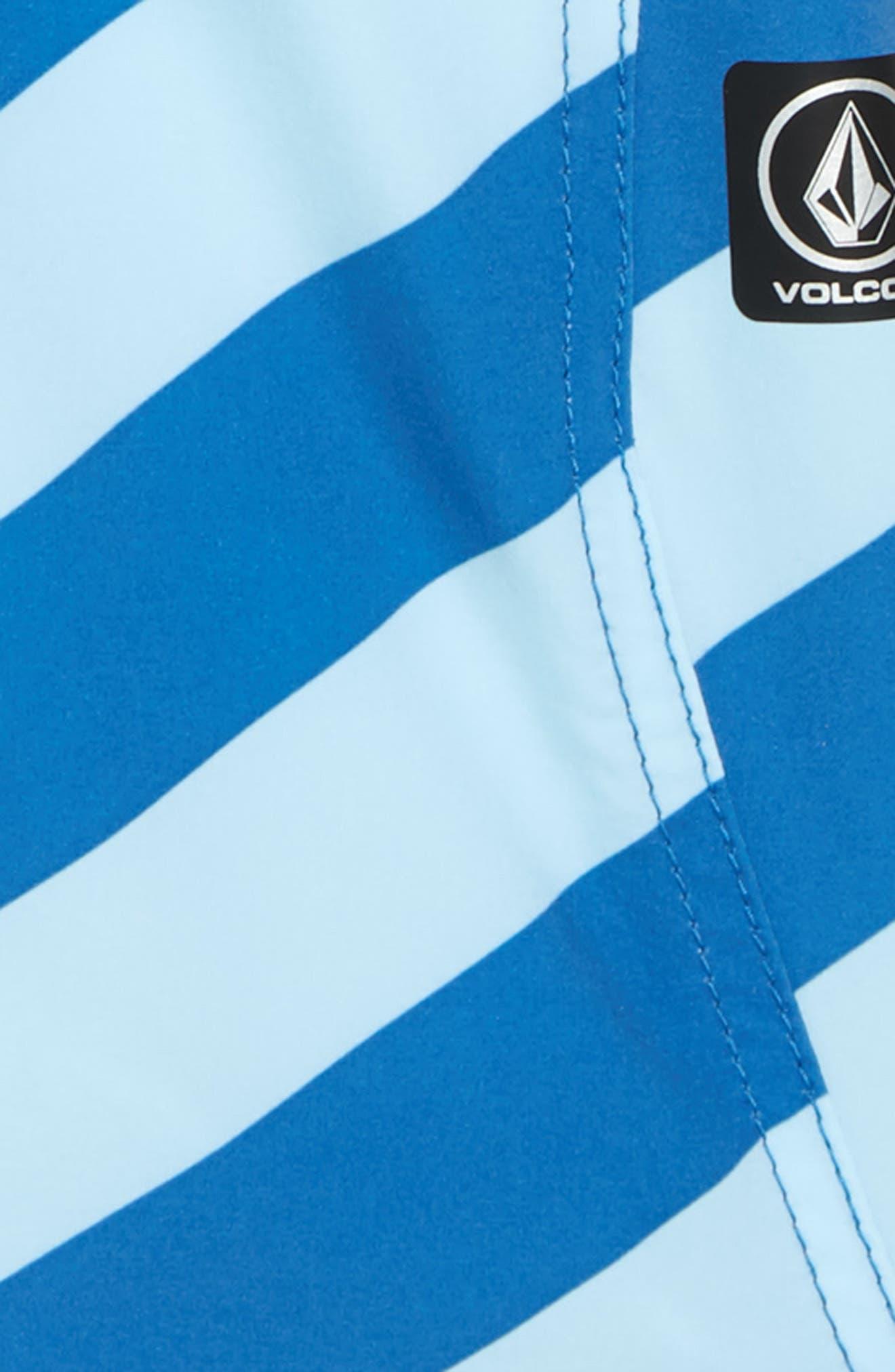 Stripey Swim Trunks,                             Alternate thumbnail 2, color,                             Arctic Blue