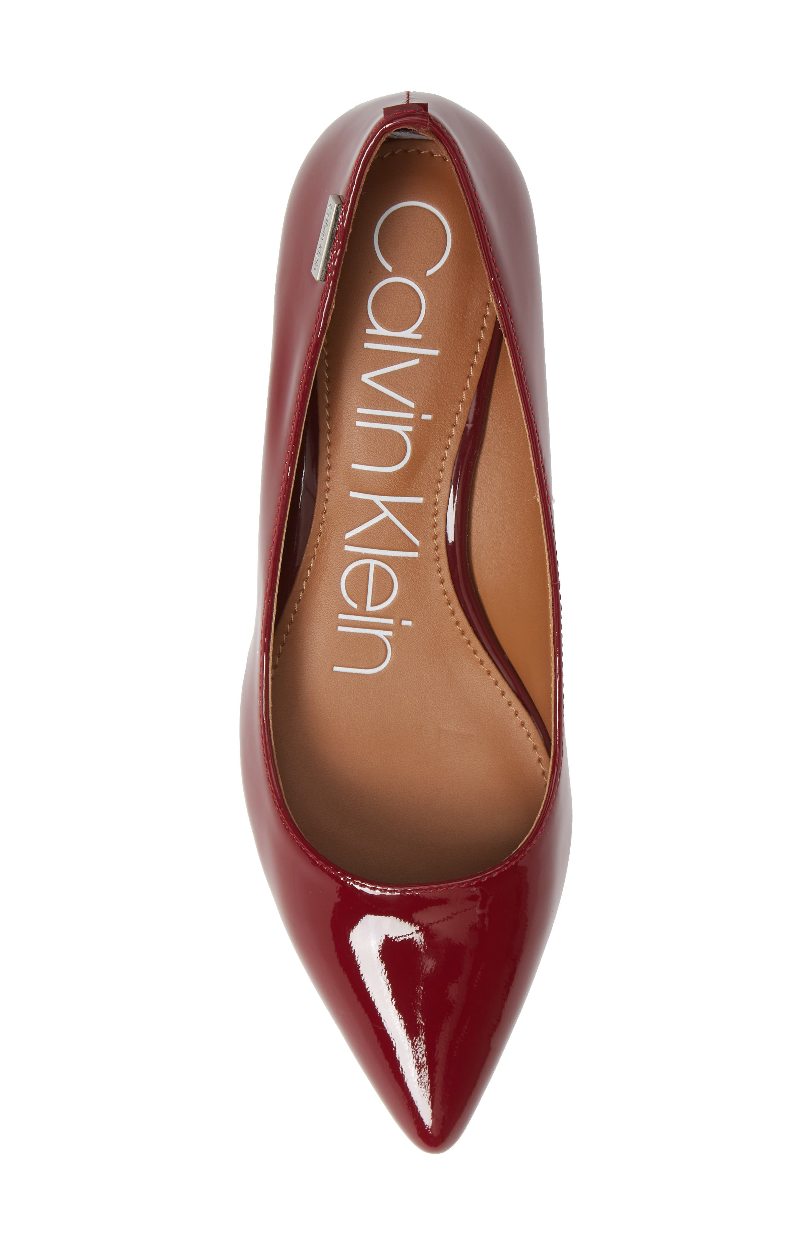 'Germina' Pointy Toe Wedge,                             Alternate thumbnail 5, color,                             Red Rock Patent