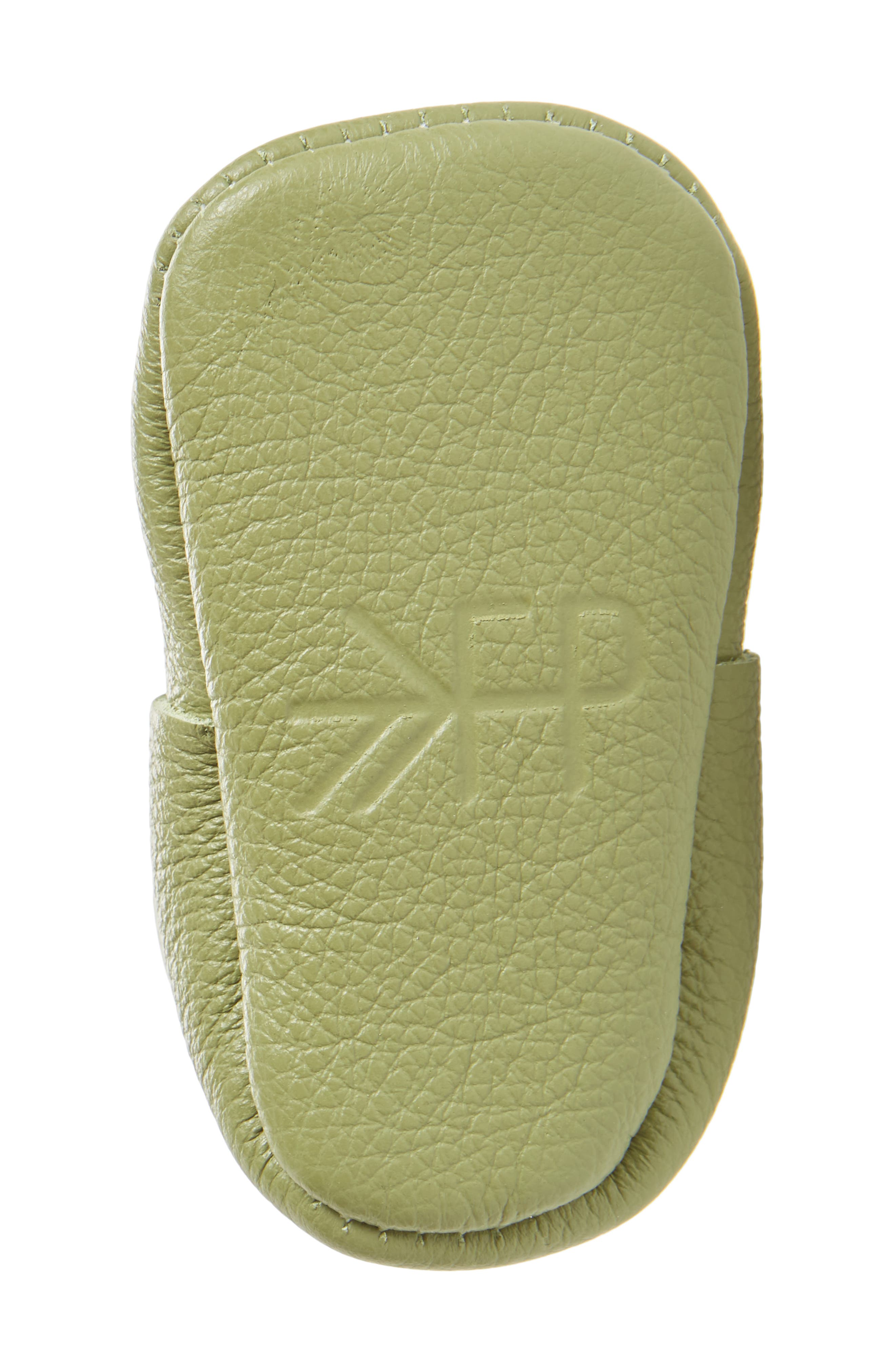 Leather Moccasin,                             Alternate thumbnail 3, color,                             Green Leather