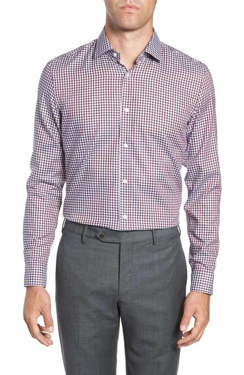 3adbcef6 BOSS x Nordstrom Isaac Slim Fit Check Dress Shirt (Nordstrom Exclusive)