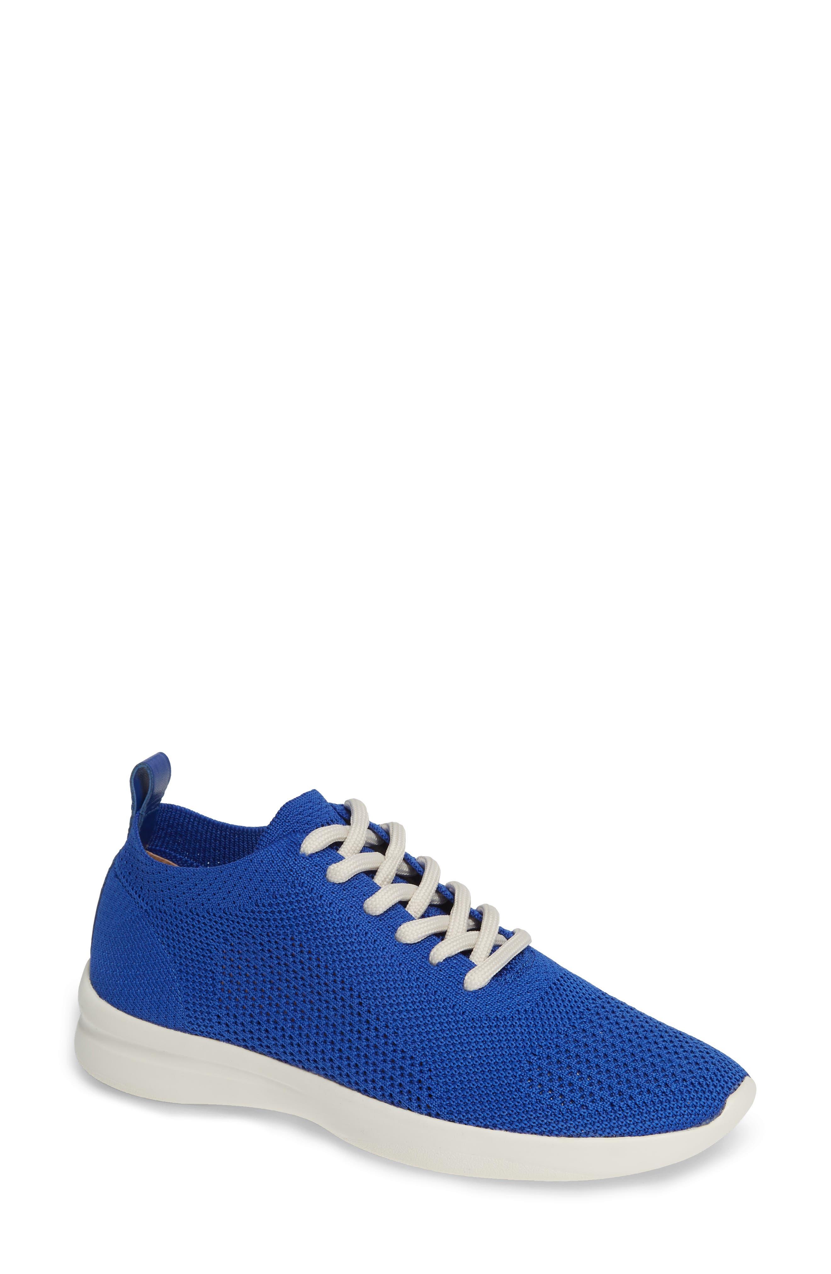 Randee Sneaker,                         Main,                         color, Blue Fabric
