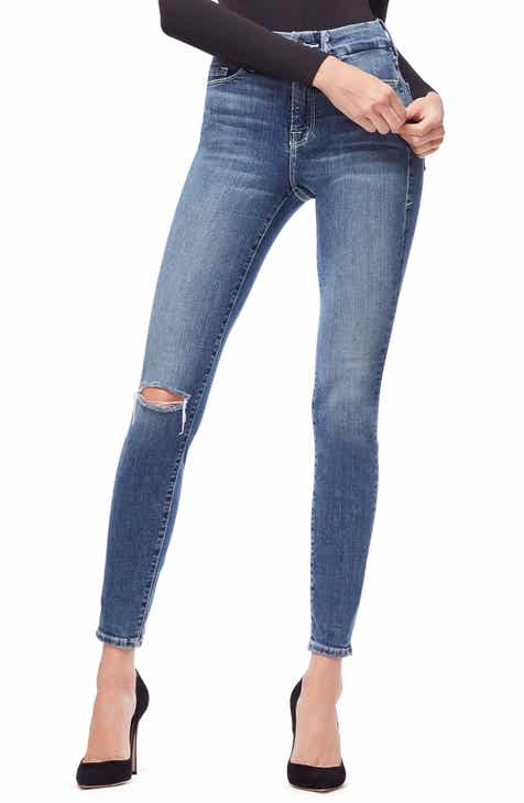 05c9f7daa7b1b Good American Good Legs High Waist Skinny Jeans (Blue 186) (Regular   Plus  Size)